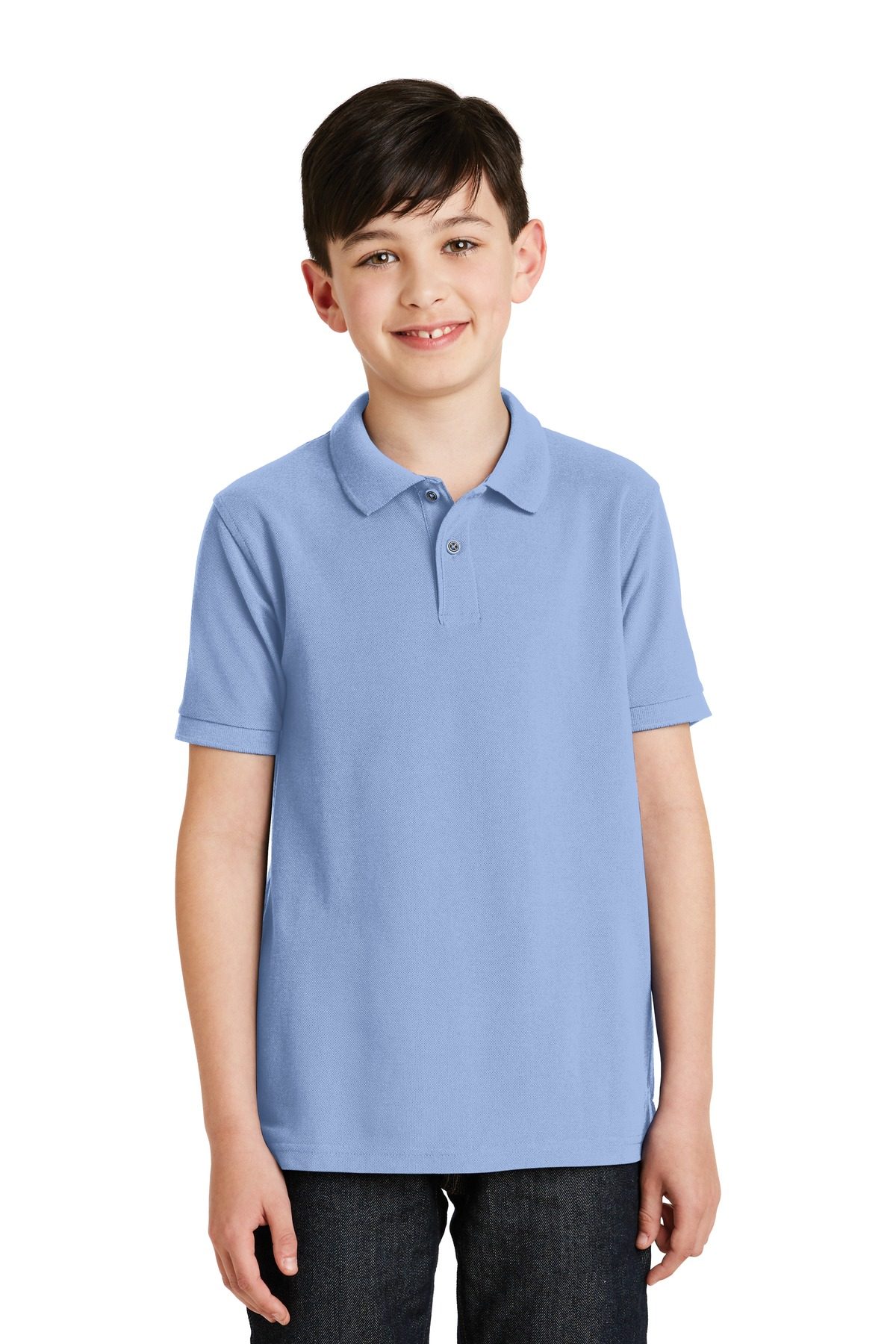 Port Authority ®  Youth Silk Touch™ Polo.  Y500 - Light Blue