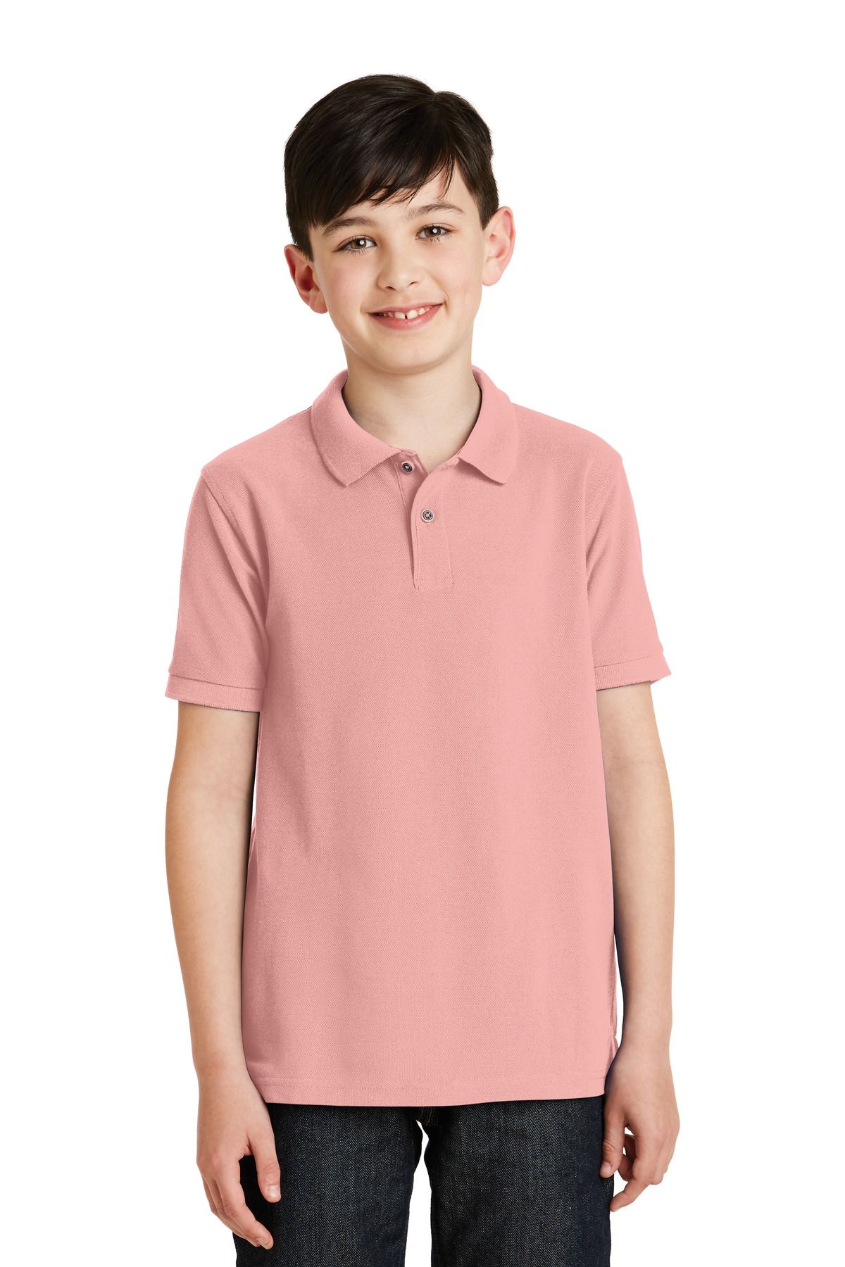 Port Authority ®  Youth Silk Touch™ Polo.  Y500 - Light Pink