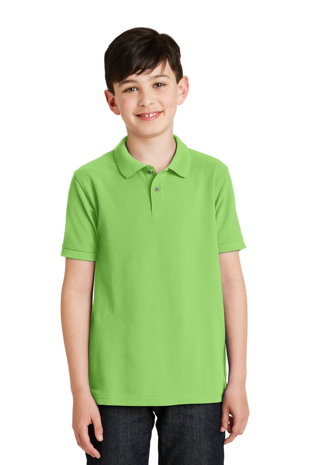 Port Authority ®  Youth Silk Touch™ Polo.  Y500 - Lime