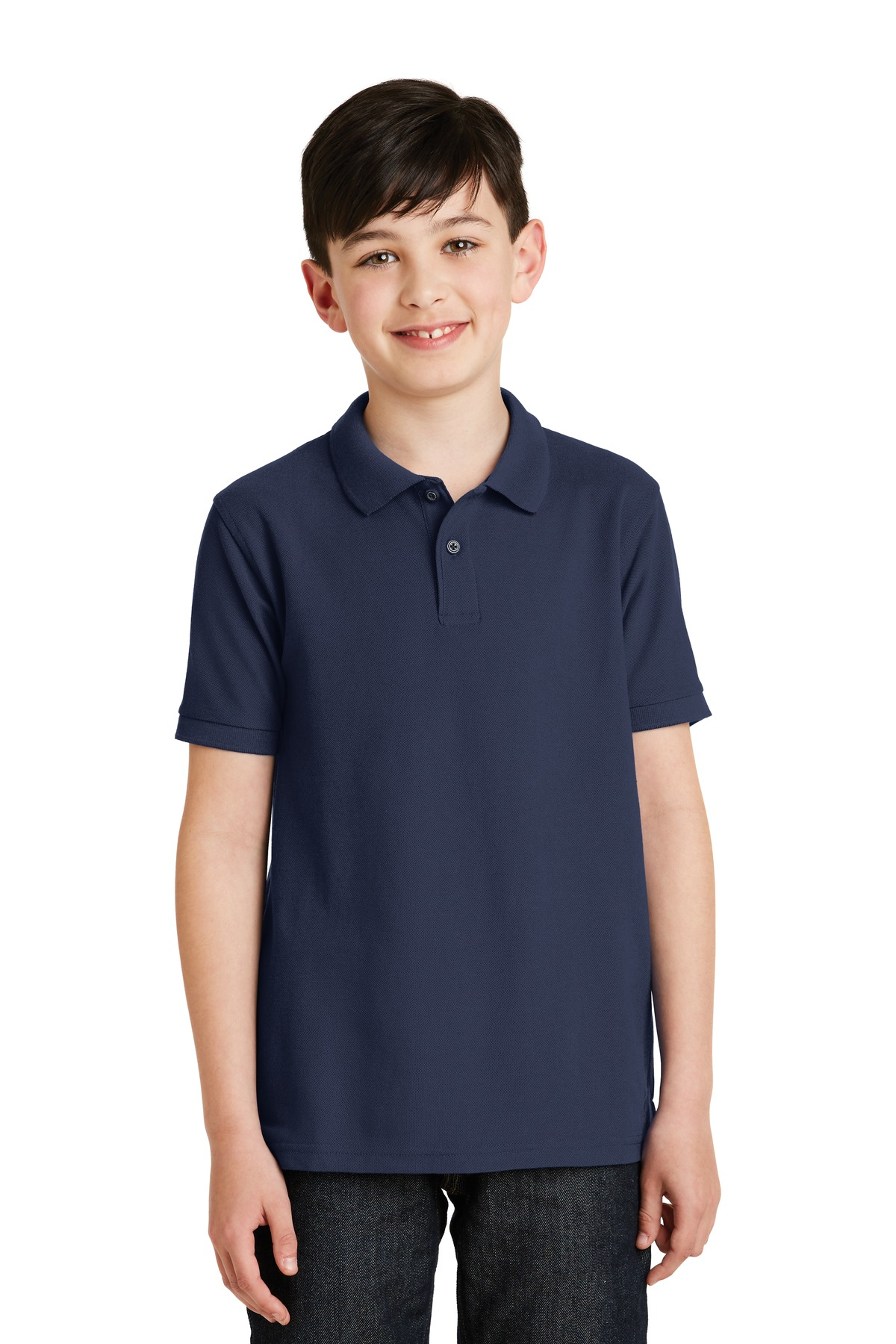 Port Authority ®  Youth Silk Touch™ Polo.  Y500 - Navy