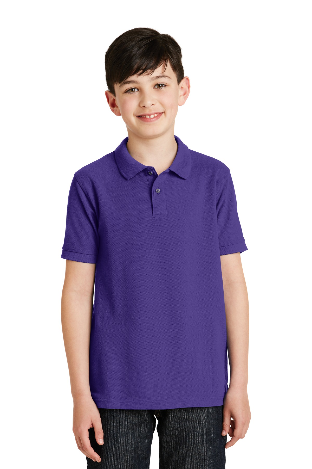 Port Authority ®  Youth Silk Touch™ Polo.  Y500 - Purple