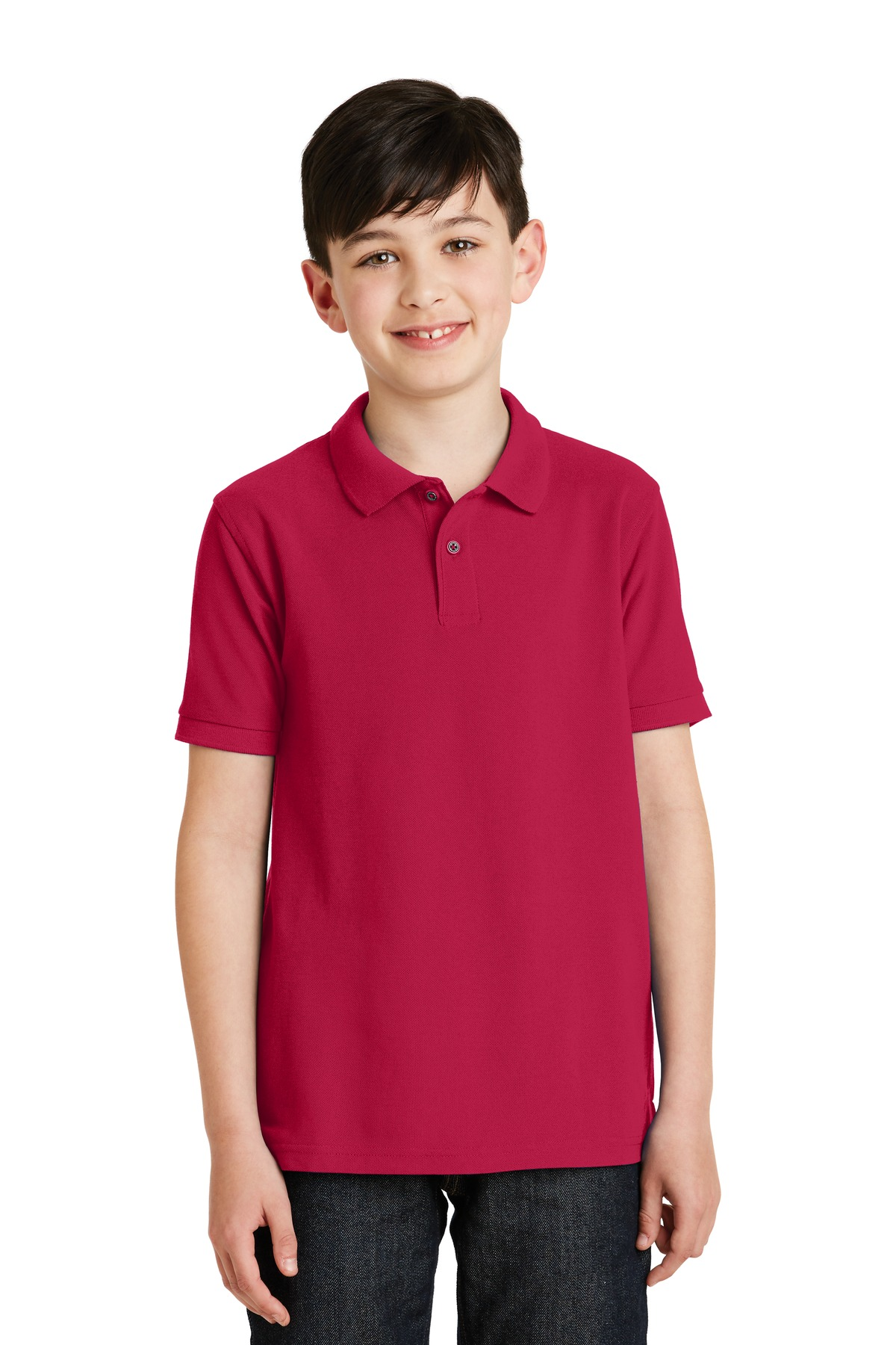 Port Authority ®  Youth Silk Touch™ Polo.  Y500 - Red