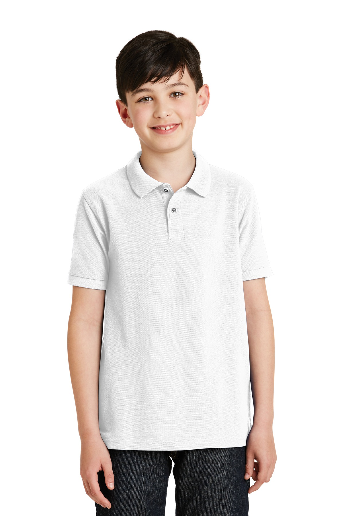 Port Authority ®  Youth Silk Touch™ Polo.  Y500 - White
