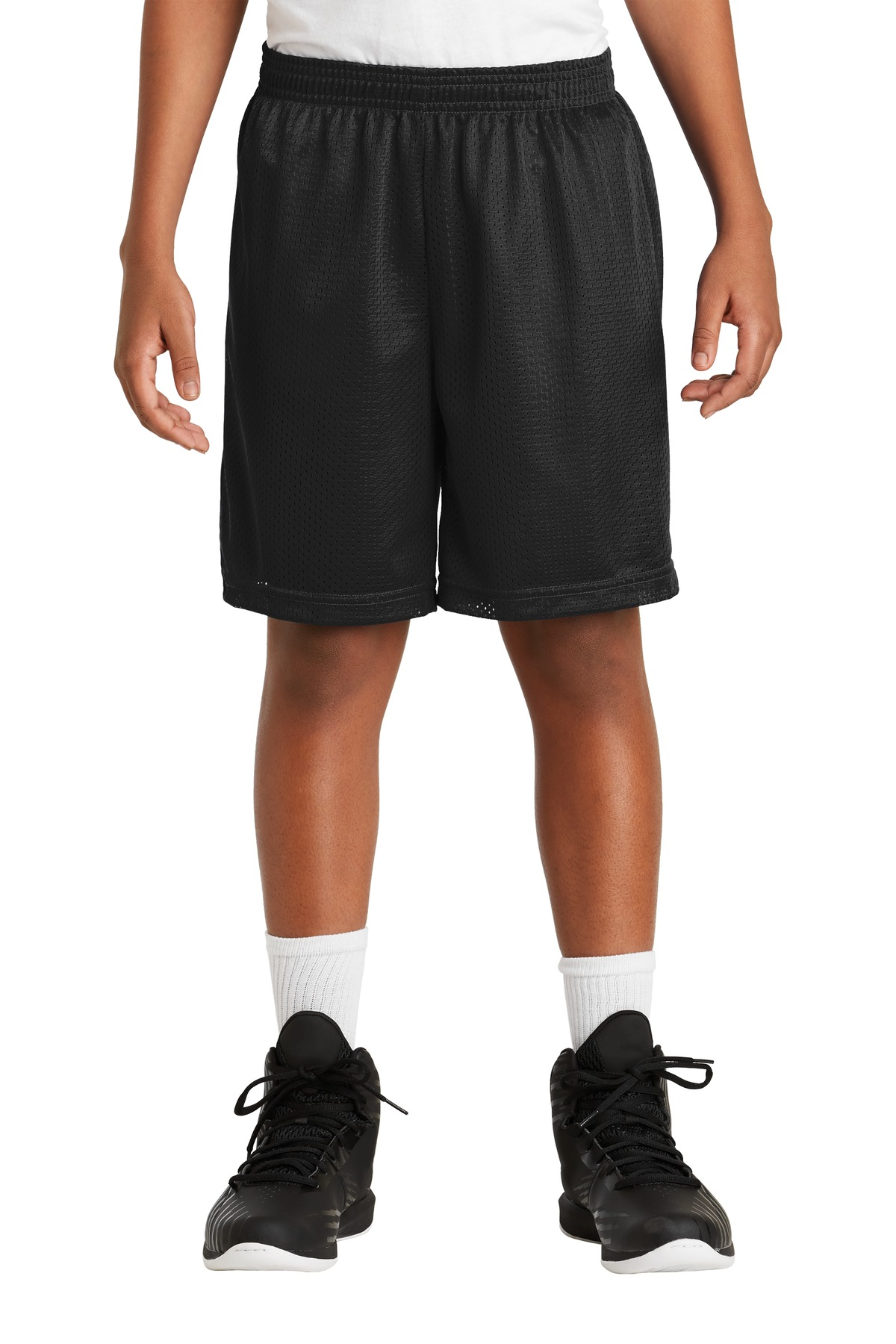 Sport-Tek ®  Youth PosiCharge ®  Classic Mesh Short. YST510 - Black