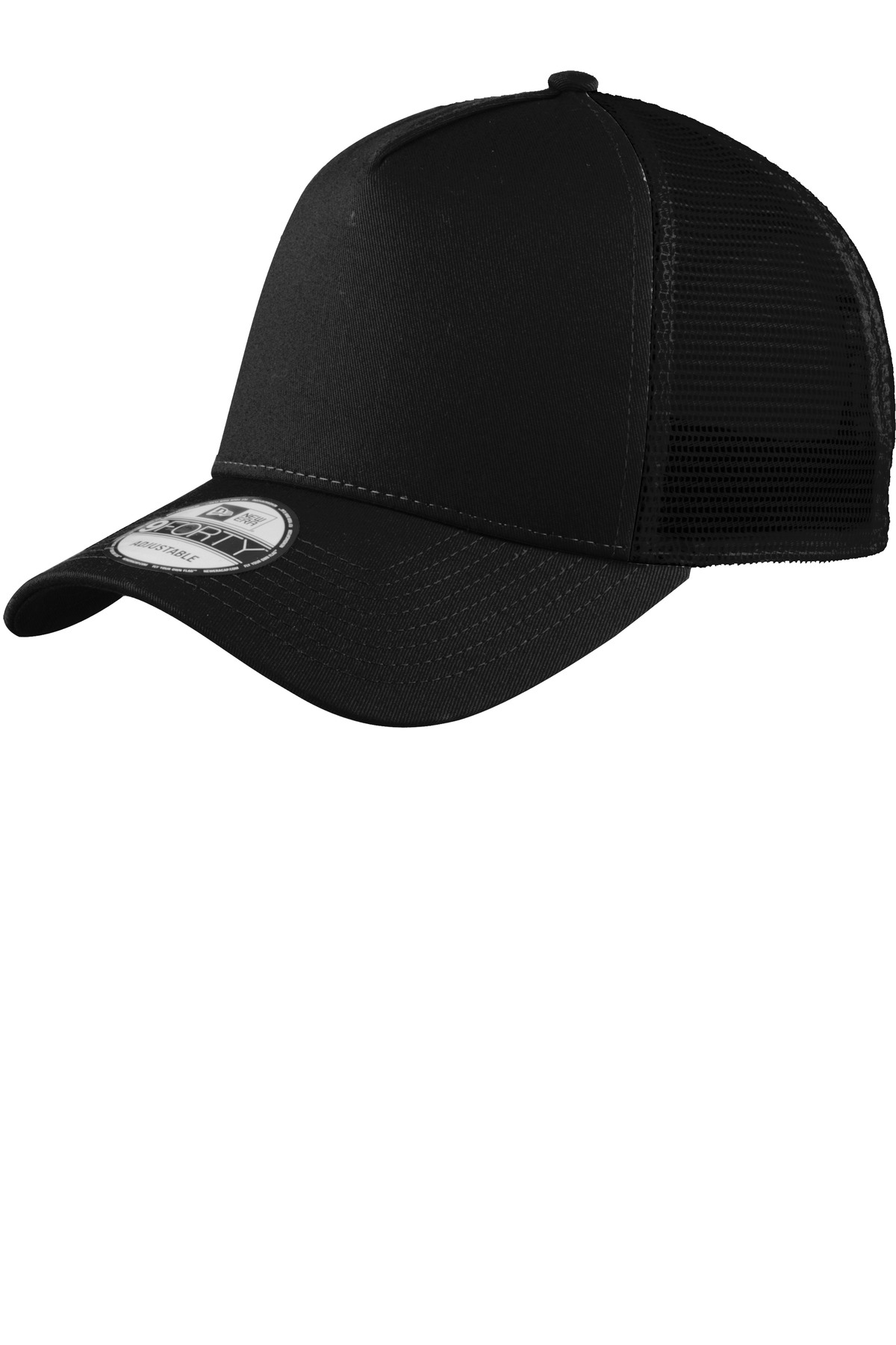 New Era ®  Snapback Trucker Cap. NE205 - Black/ Black