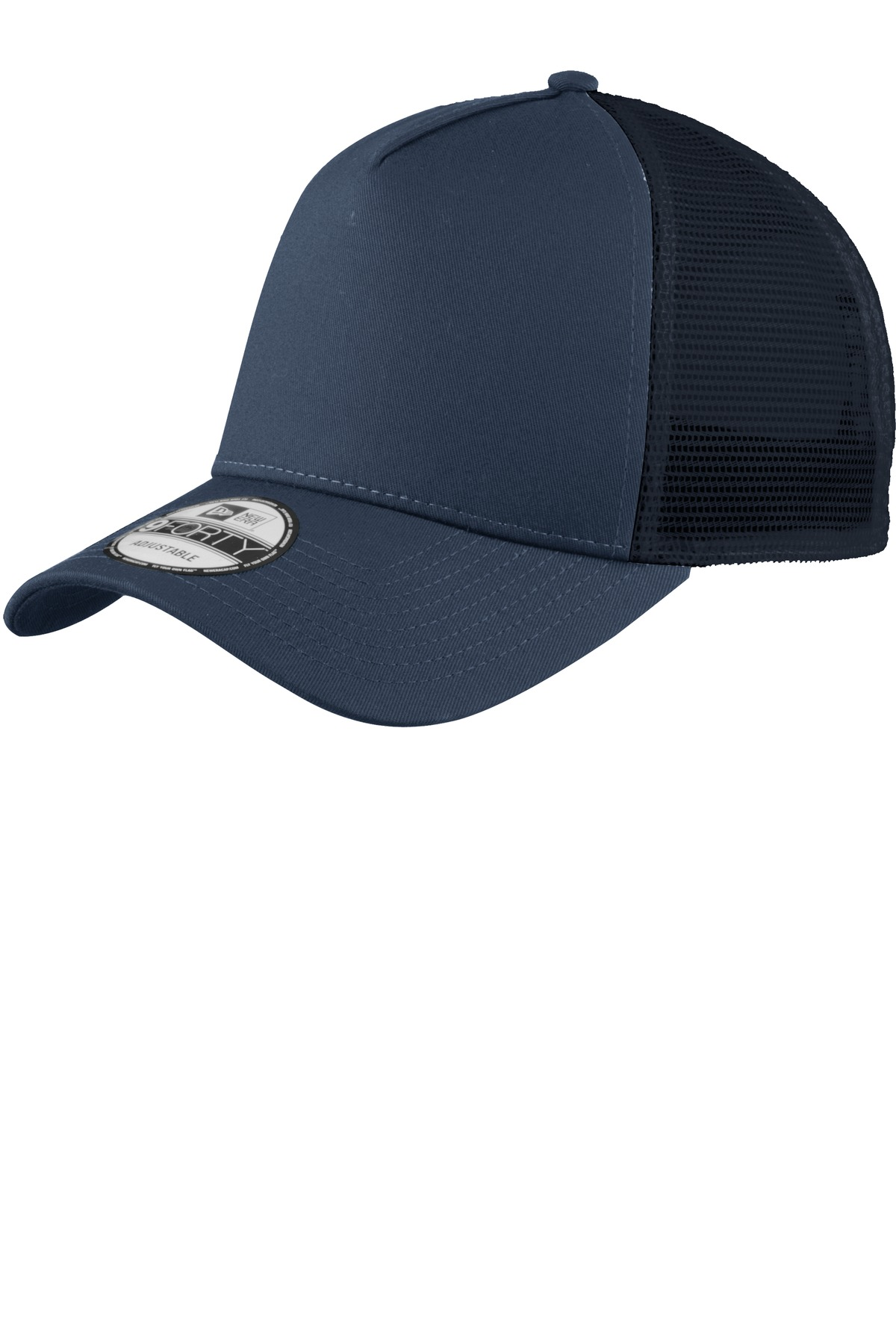 New Era ®  Snapback Trucker Cap. NE205 - Deep Navy/ Deep Navy