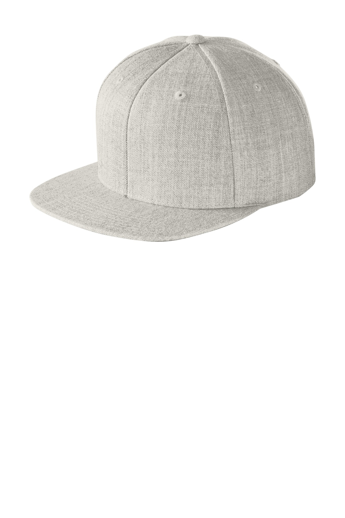 Sport-Tek ®  Yupoong ®  Flat Bill Snapback Cap. STC19 - Heather Grey