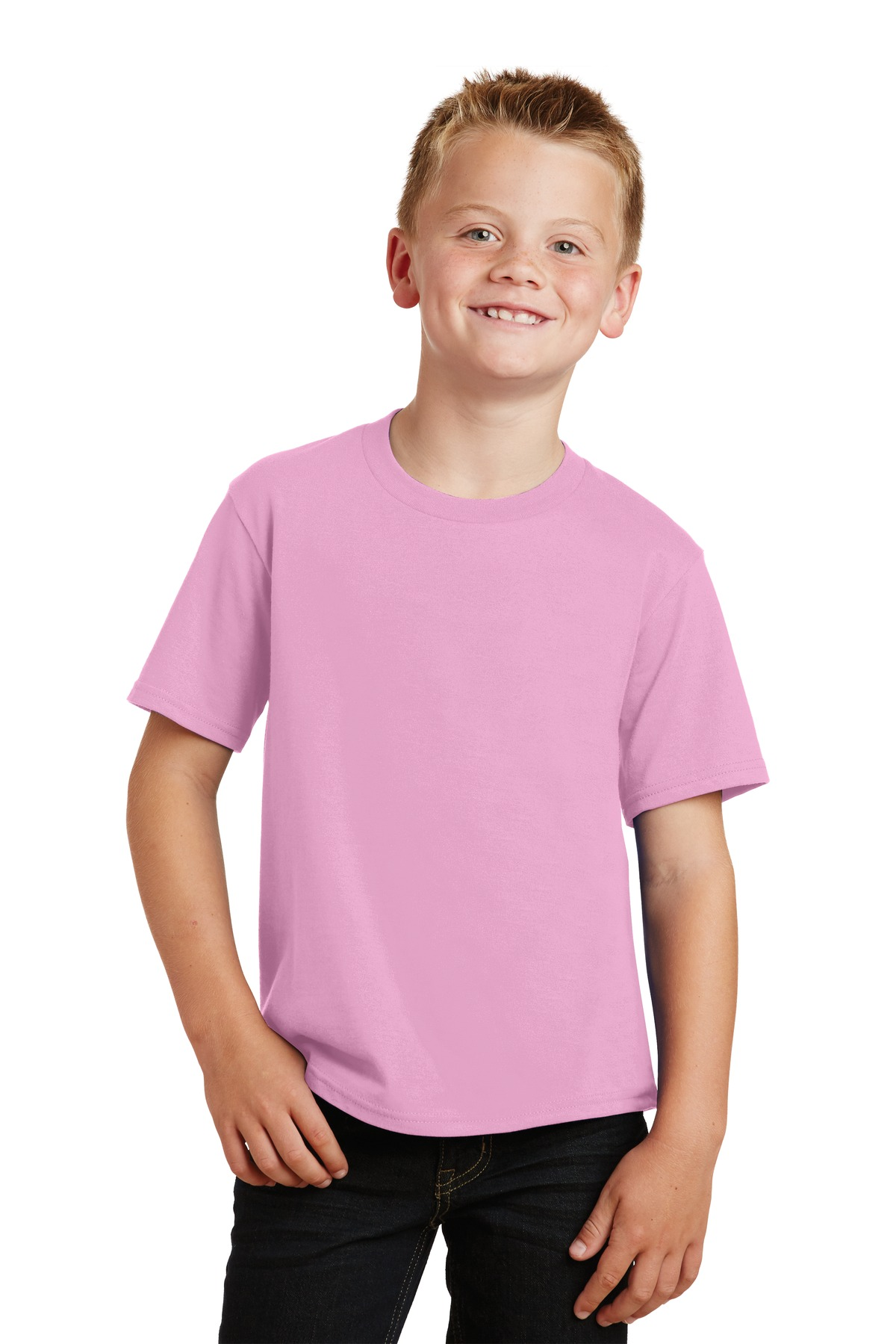 Port & Company ®  Youth Fan Favorite Tee. PC450Y - Candy Pink