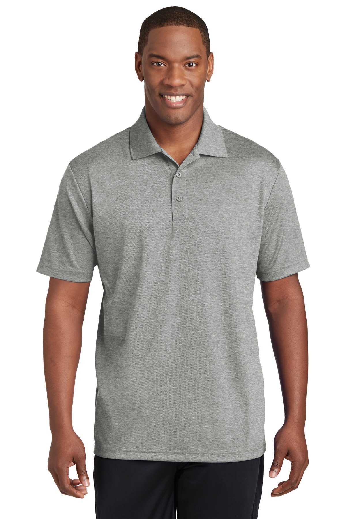 Sport-Tek ®  PosiCharge ®  RacerMesh ®  Polo. ST640 - Grey Heather