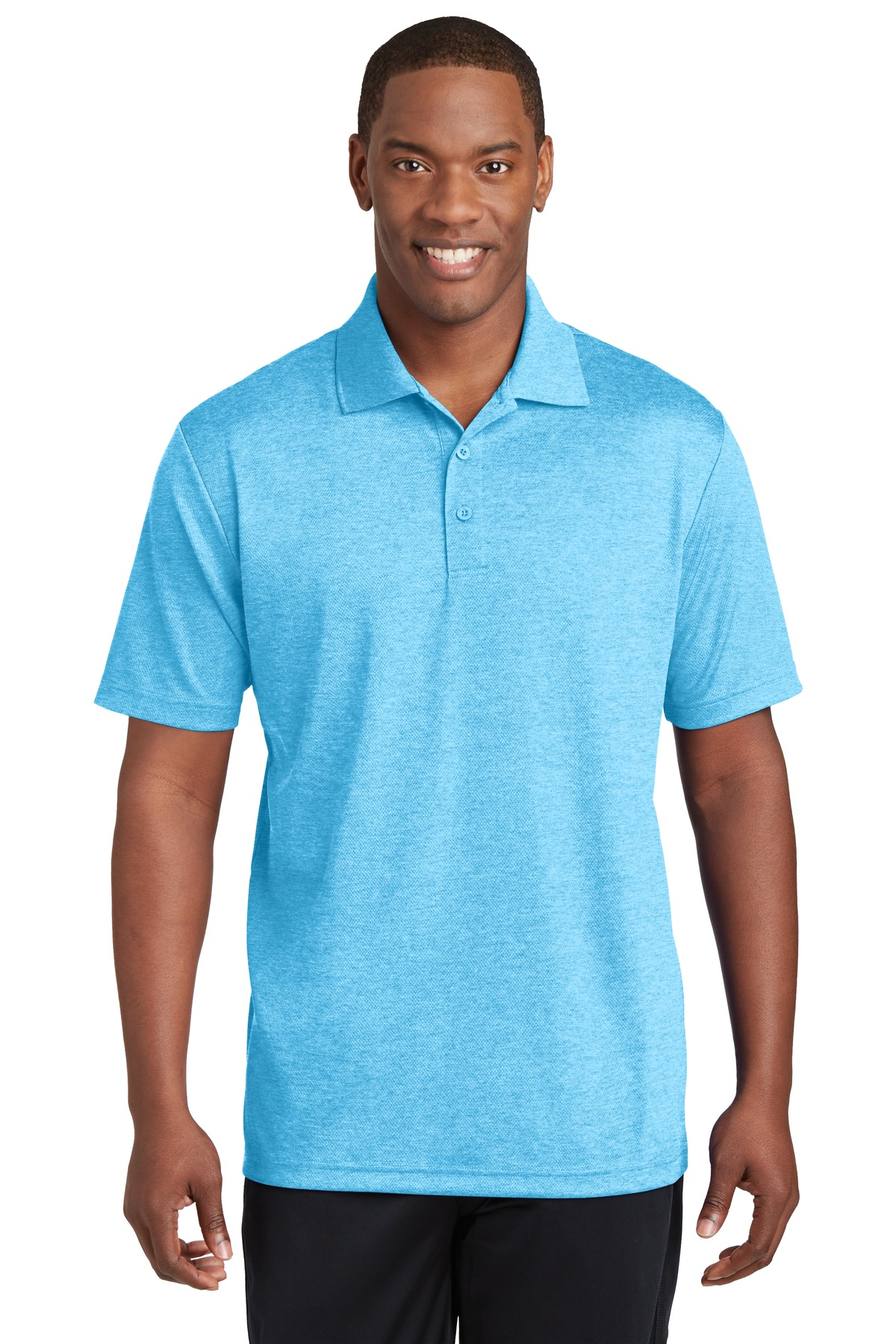 Sport-Tek ®  PosiCharge ®  RacerMesh ®  Polo. ST640 - Pond Blue Heather