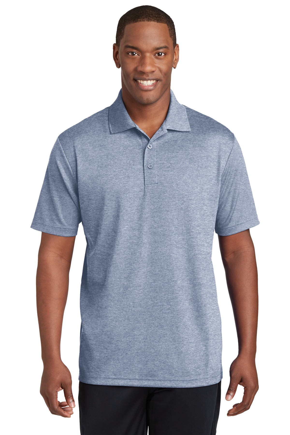 Sport-Tek ®  PosiCharge ®  RacerMesh ®  Polo. ST640 - True Navy Heather
