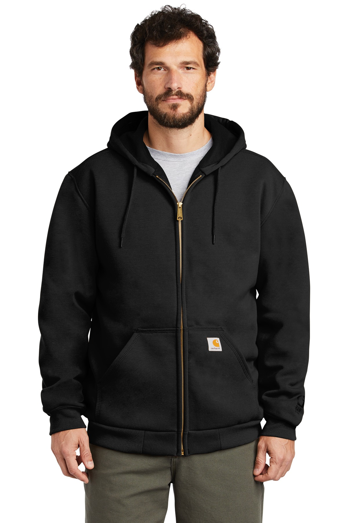 Carhartt  ®  Rain Defender  ®  Rutland Thermal-Lined Hooded Zip-Front Sweatshirt. CT100632 - Black