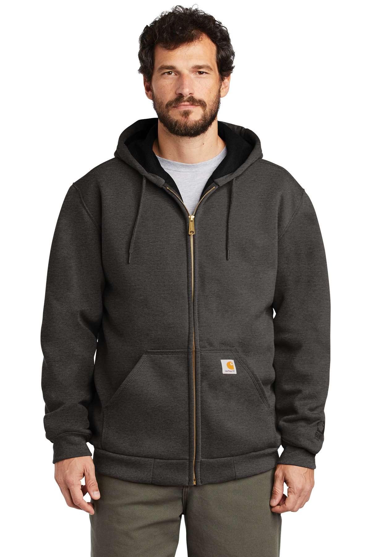 Carhartt  ®  Rain Defender  ®  Rutland Thermal-Lined Hooded Zip-Front Sweatshirt. CT100632 - Carbon Heather