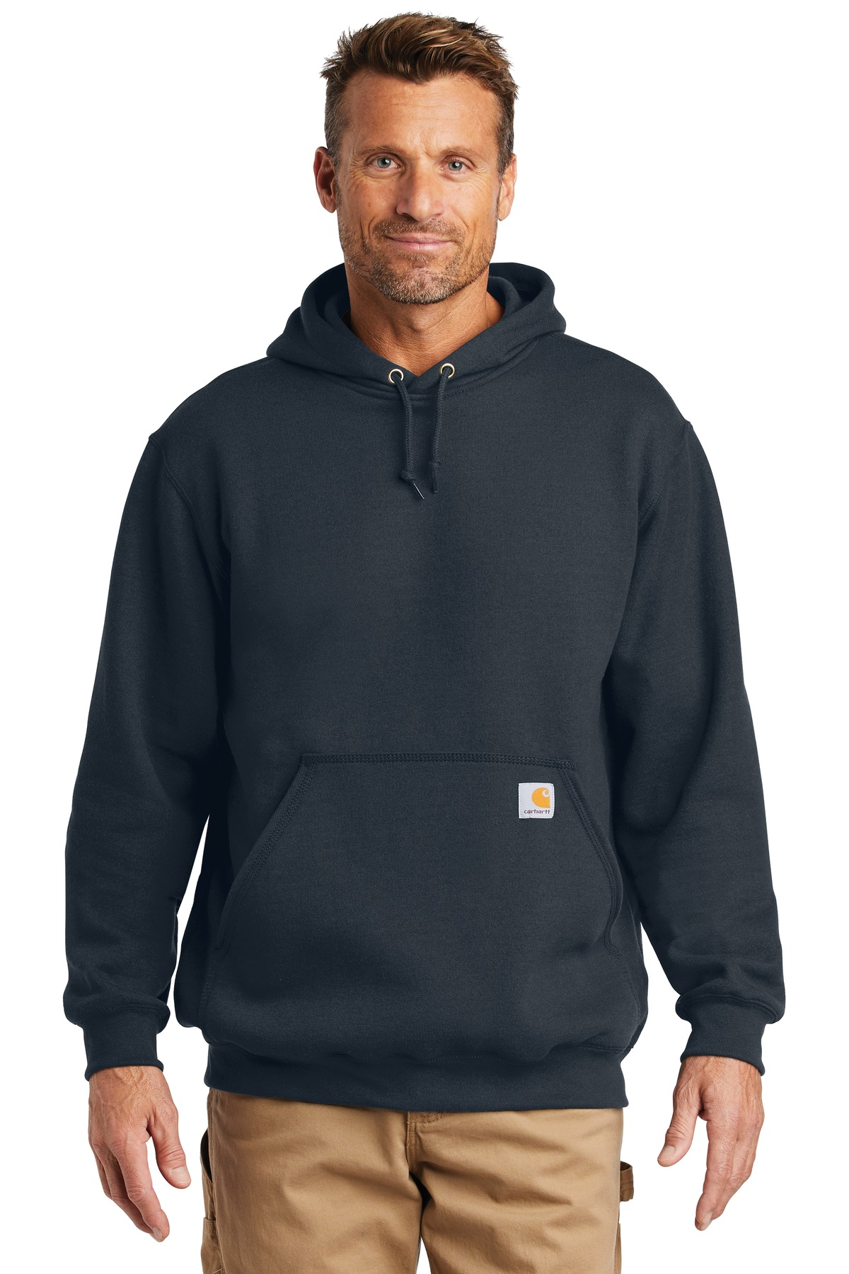 Carhartt  ®  Midweight Hooded Sweatshirt. CTK121 - New Navy