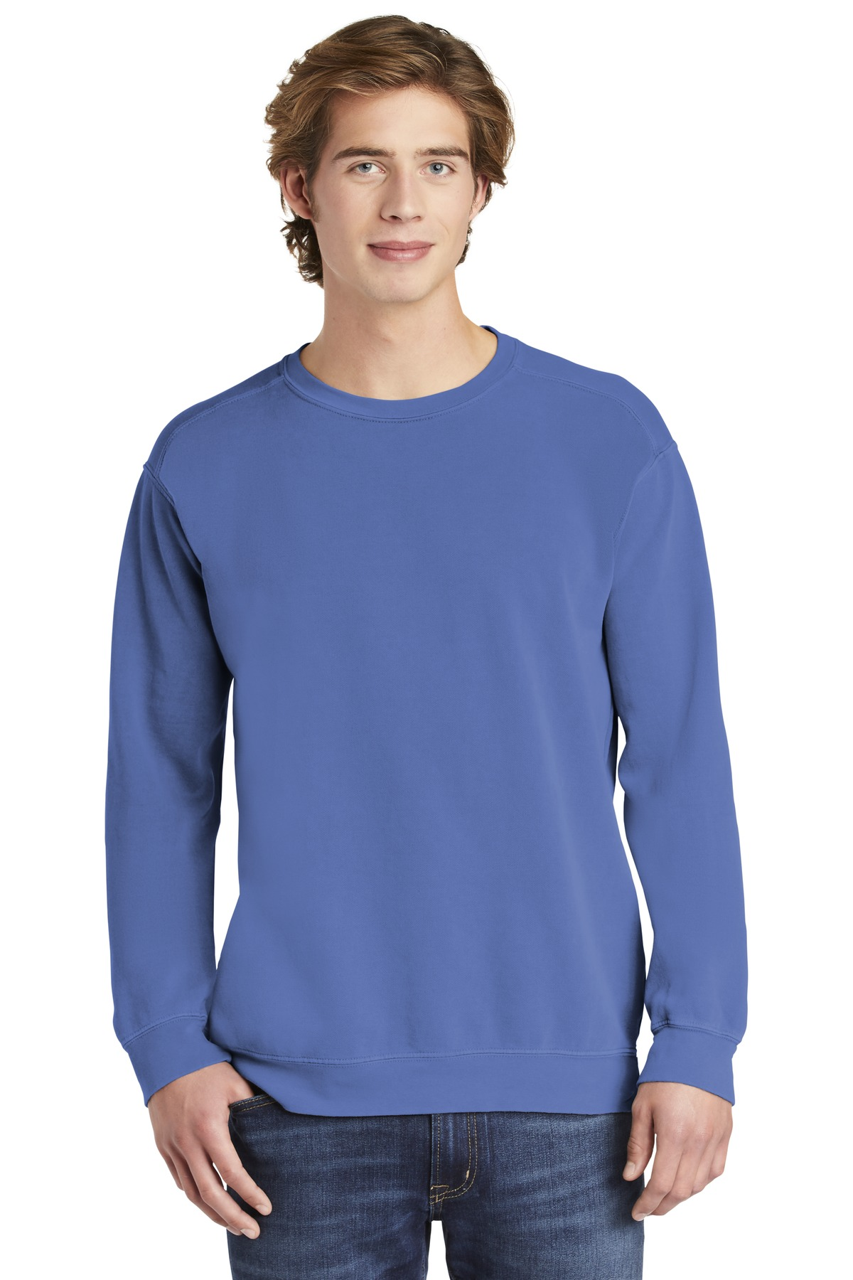 COMFORT COLORS  ®  Ring Spun Crewneck Sweatshirt. 1566 - Flo Blue