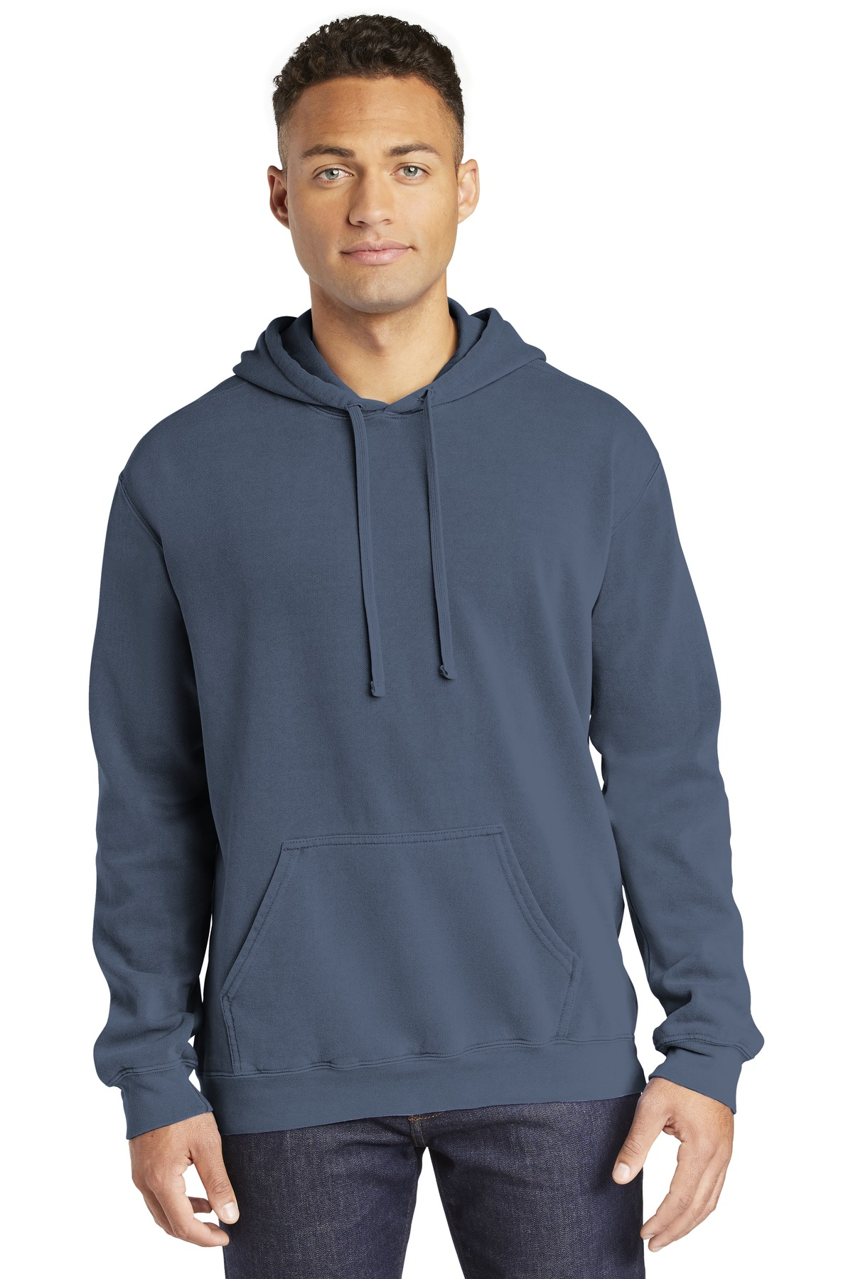 COMFORT COLORS  ®  Ring Spun Hooded Sweatshirt. 1567 - Blue Jean