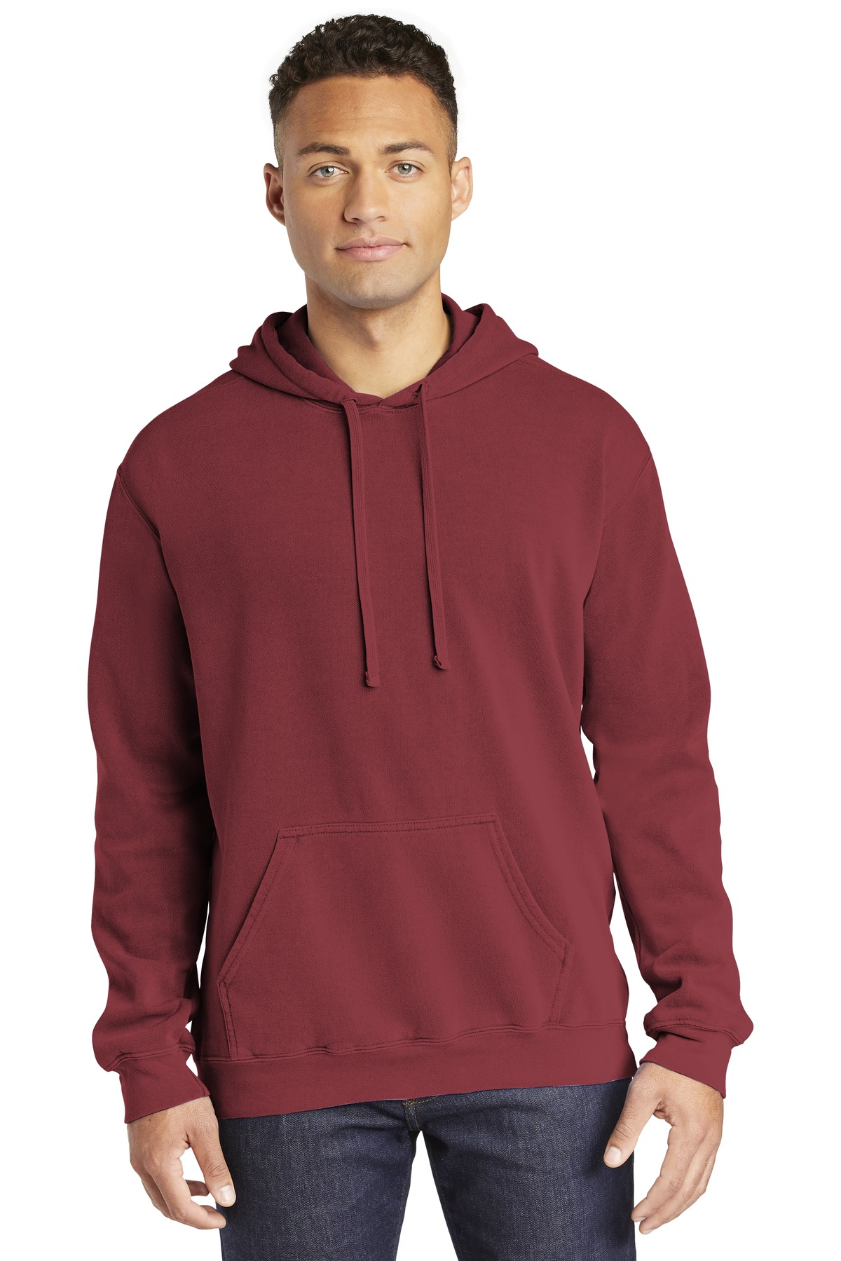 COMFORT COLORS  ®  Ring Spun Hooded Sweatshirt. 1567 - Crimson