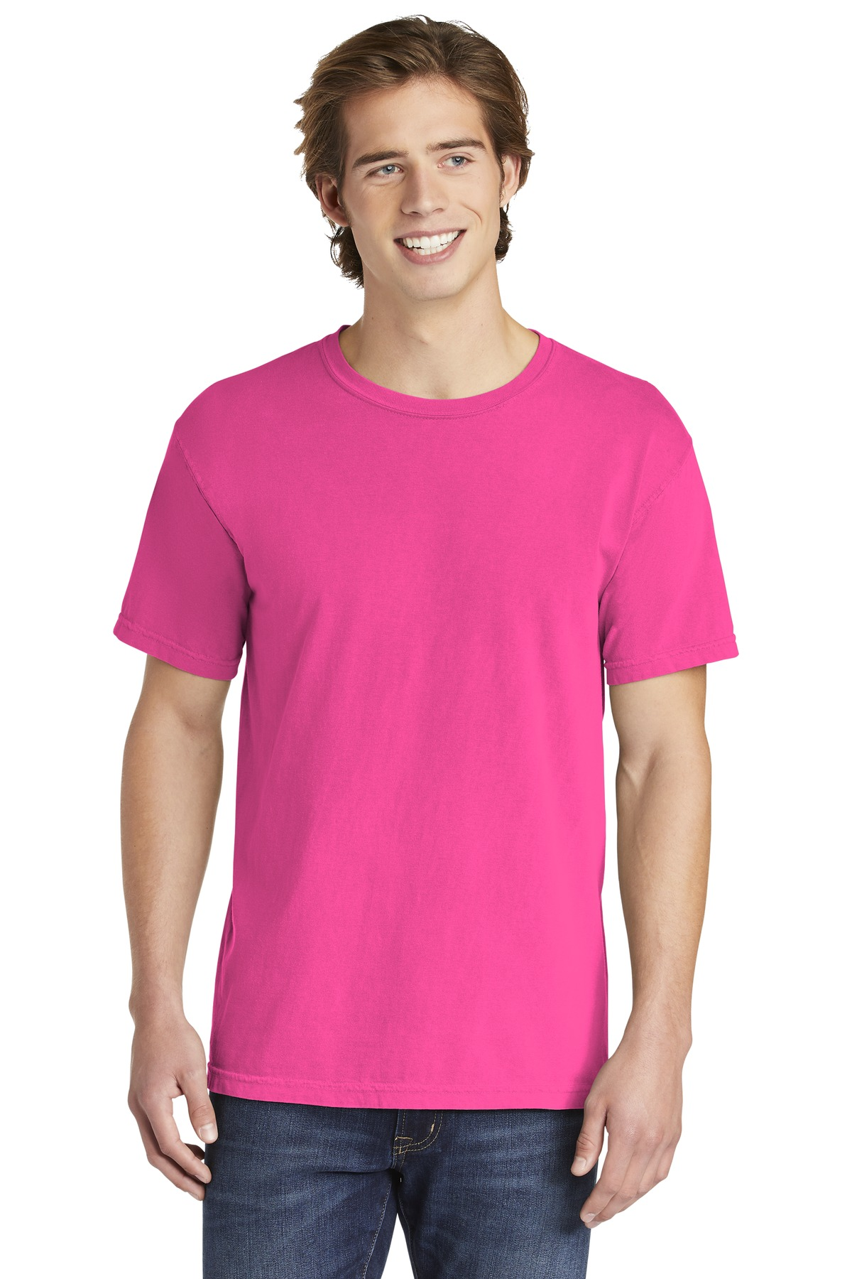 COMFORT COLORS  ®  Heavyweight Ring Spun Tee. 1717 - Neon Pink