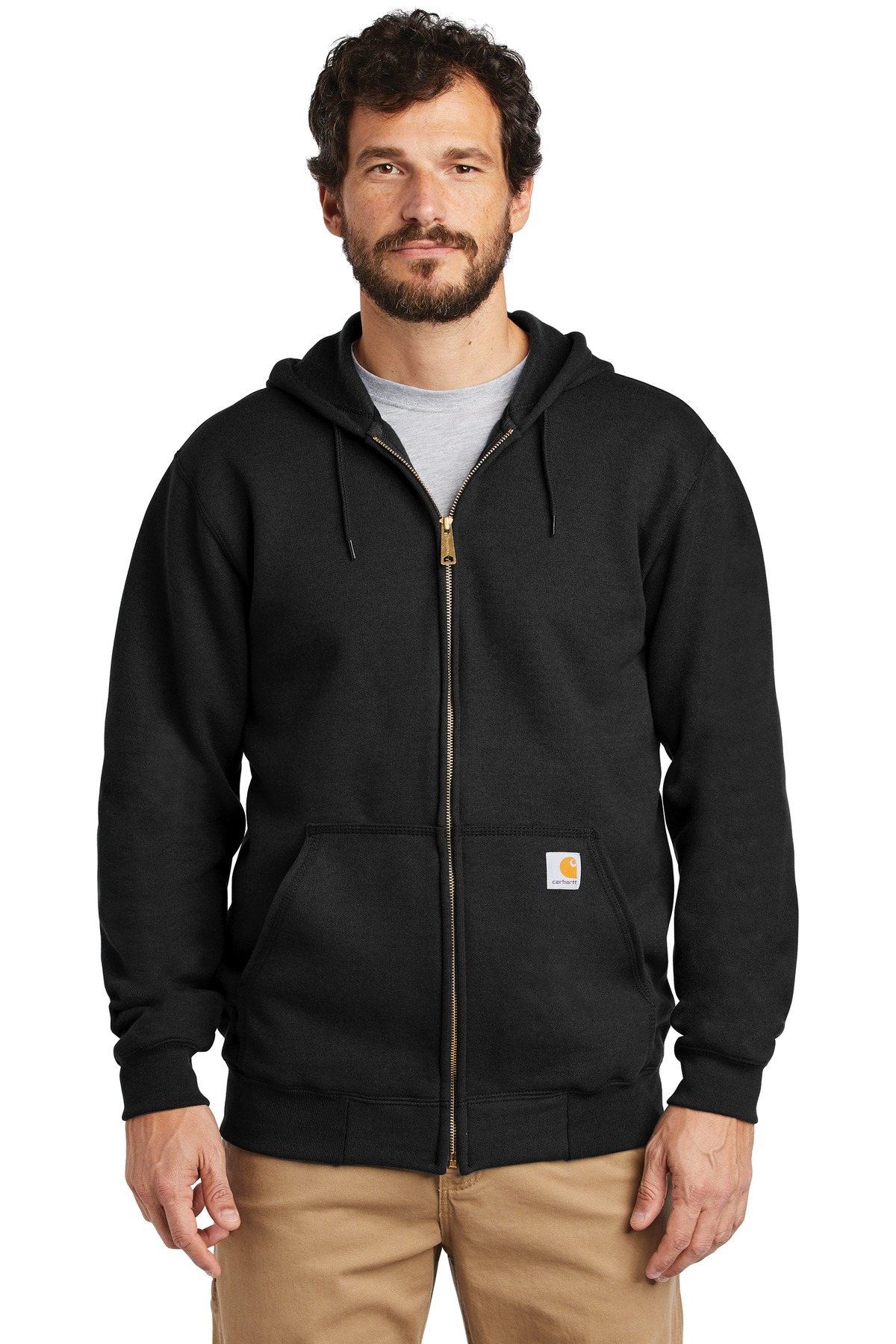 Carhartt  ®  Midweight Hooded Zip-Front Sweatshirt. CTK122 - Black