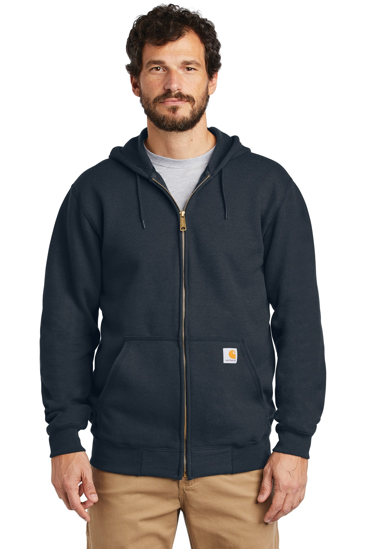 Carhartt  ®  Midweight Hooded Zip-Front Sweatshirt. CTK122 - New Navy