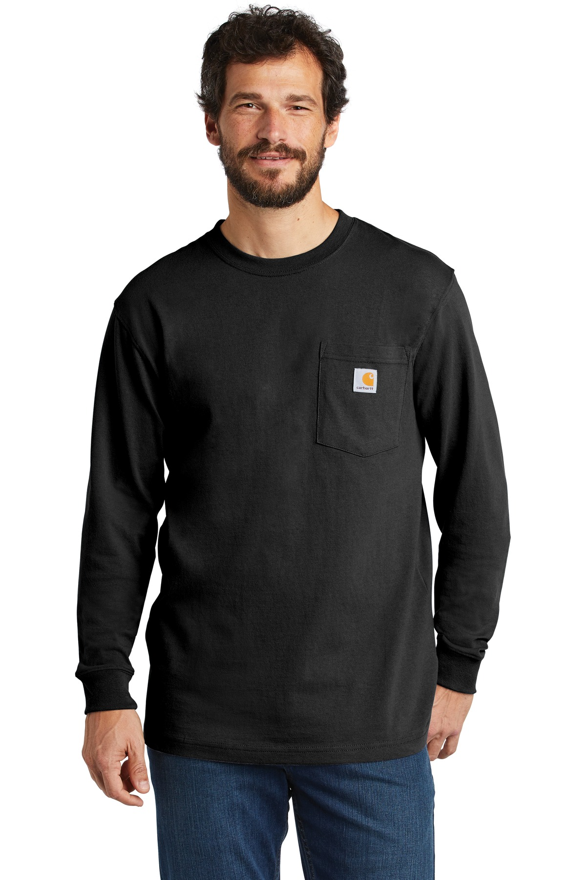 Carhartt  ®  Workwear Pocket Long Sleeve T-Shirt. CTK126 - Black