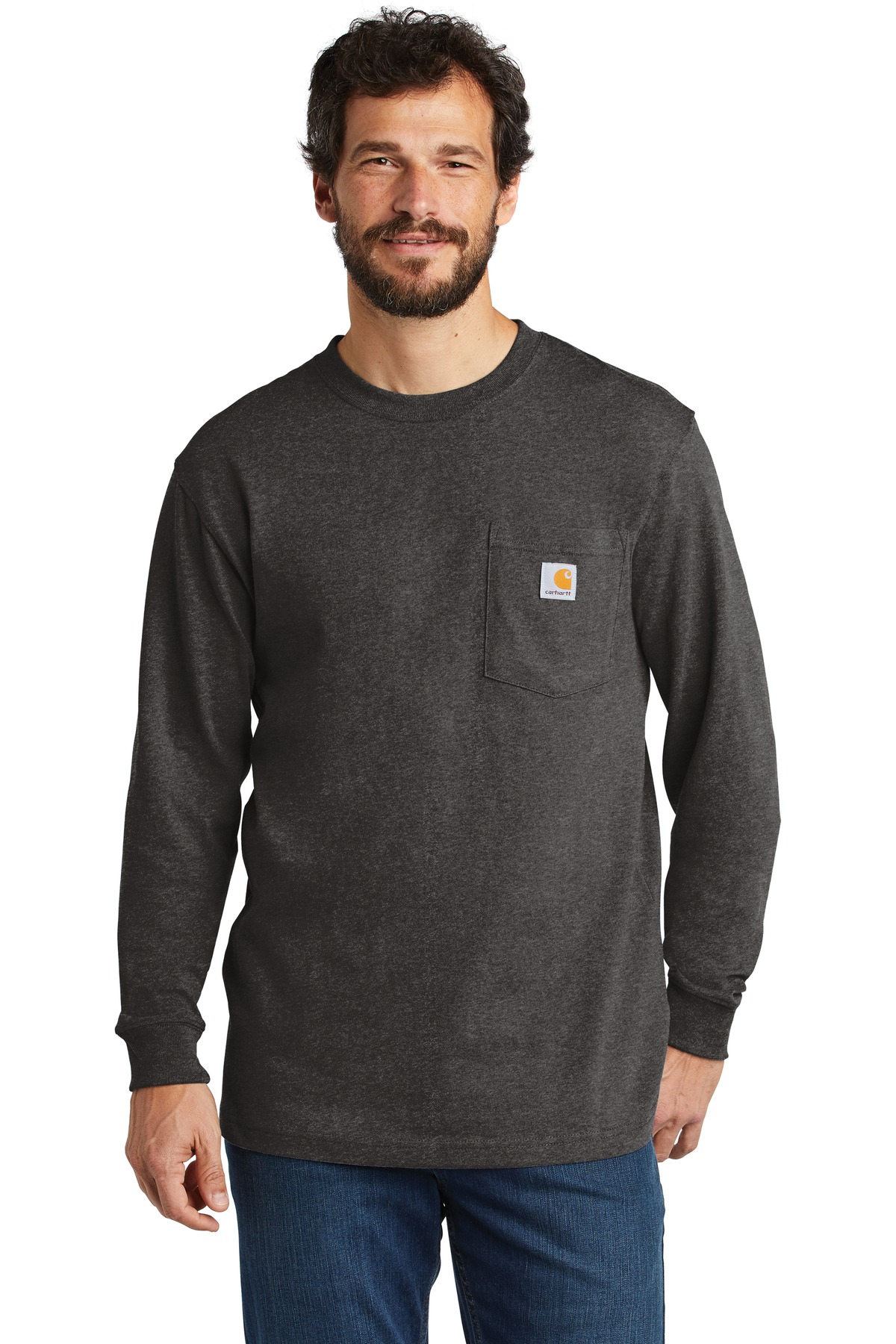 Carhartt  ®  Workwear Pocket Long Sleeve T-Shirt. CTK126 - Carbon Heather