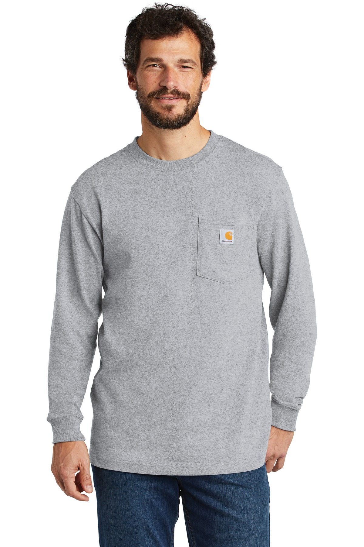 Carhartt  ®  Workwear Pocket Long Sleeve T-Shirt. CTK126 - Heather Grey