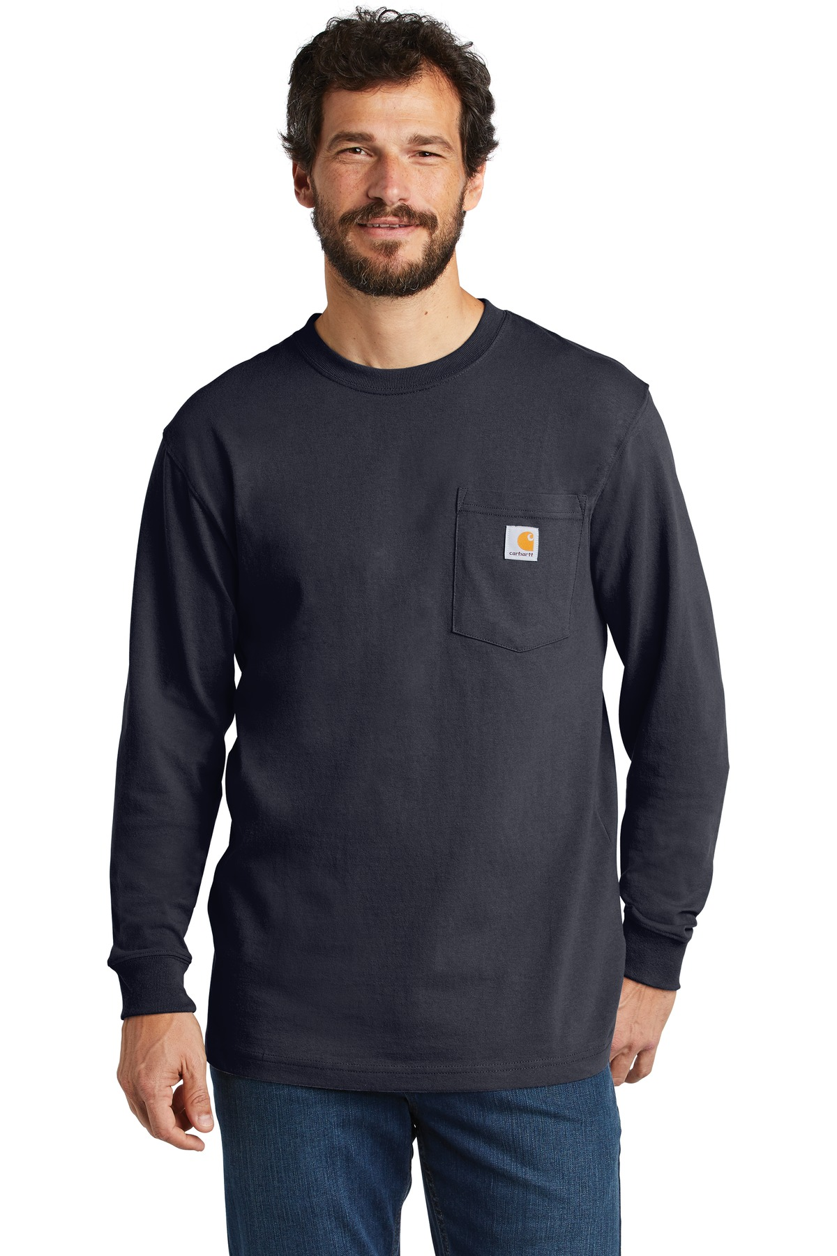 Carhartt  ®  Workwear Pocket Long Sleeve T-Shirt. CTK126 - Navy