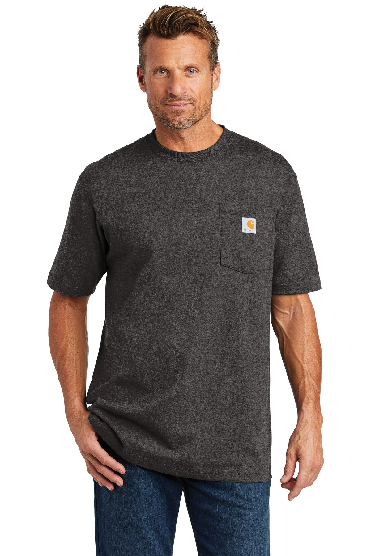 Carhartt  ®  Workwear Pocket Short Sleeve T-Shirt. CTK87 - Carbon Heather