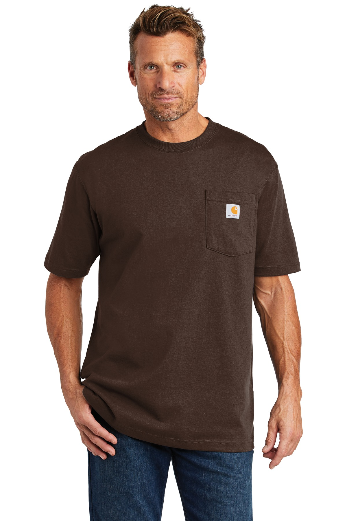 Carhartt  ®  Workwear Pocket Short Sleeve T-Shirt. CTK87 - Dark Brown
