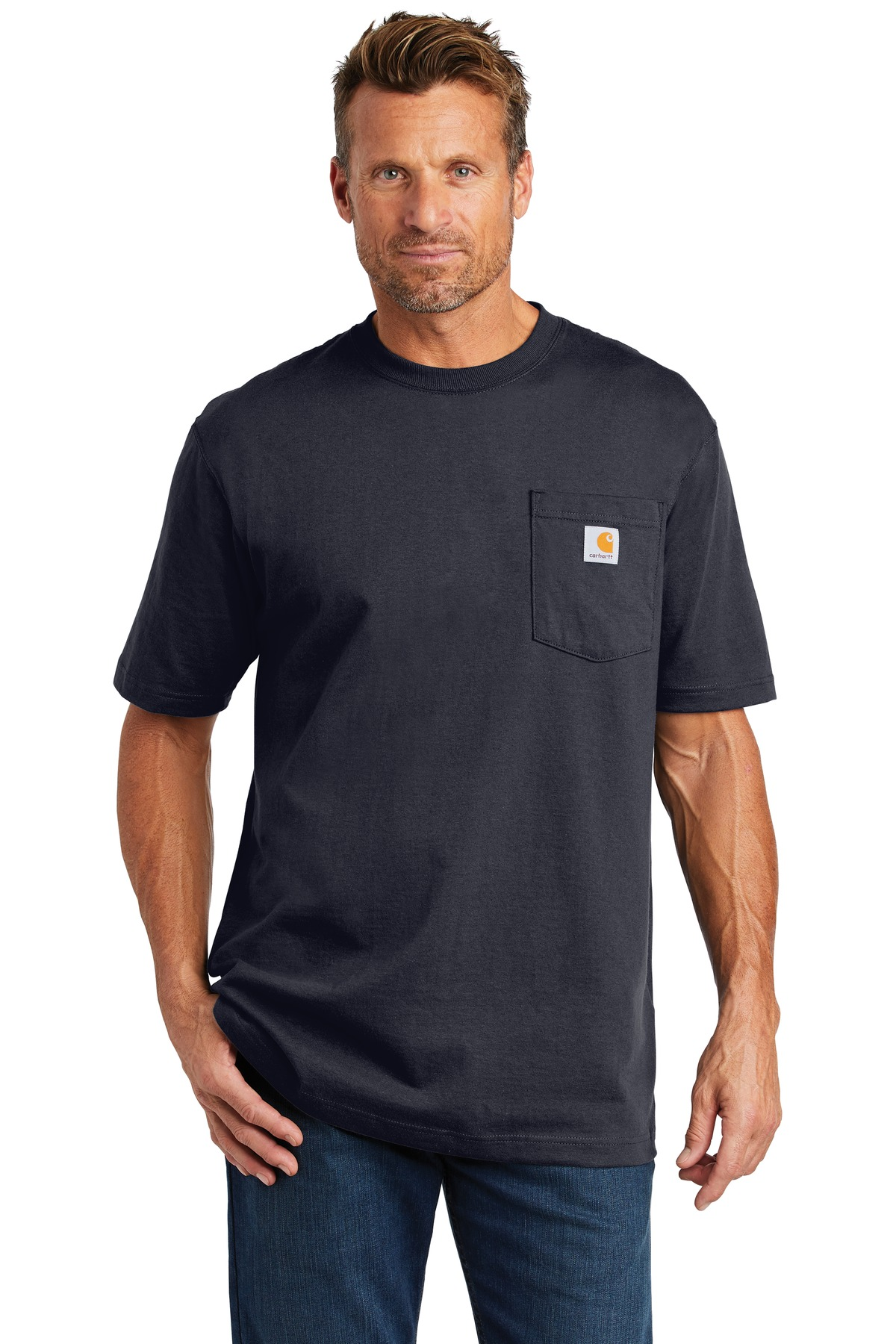 Carhartt  ®  Workwear Pocket Short Sleeve T-Shirt. CTK87 - Navy