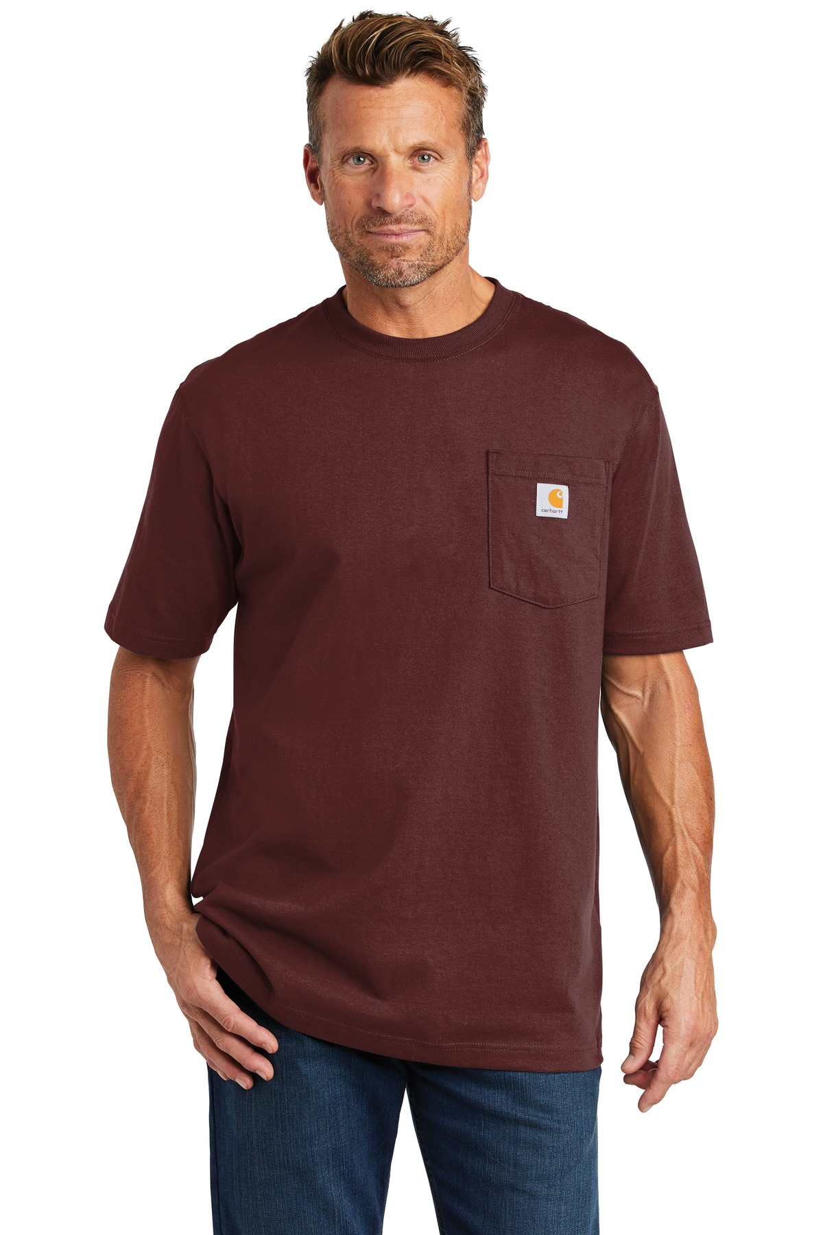 Carhartt  ®  Workwear Pocket Short Sleeve T-Shirt. CTK87 - Port