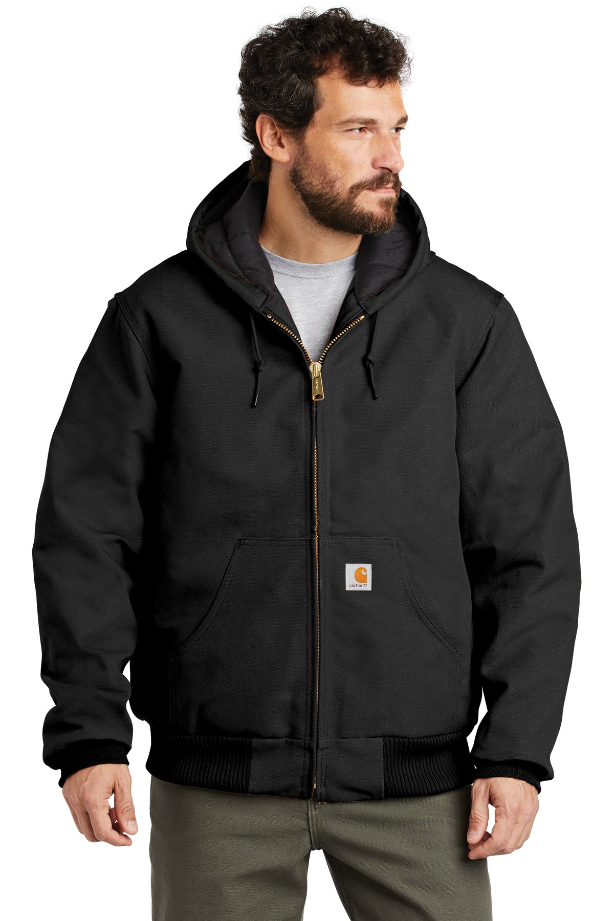 Carhartt  ®  Quilted-Flannel-Lined Duck Active Jac. CTSJ140 - Black