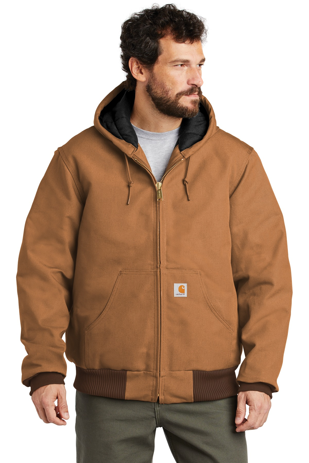 Carhartt  ®  Quilted-Flannel-Lined Duck Active Jac. CTSJ140 - Carhartt Brown