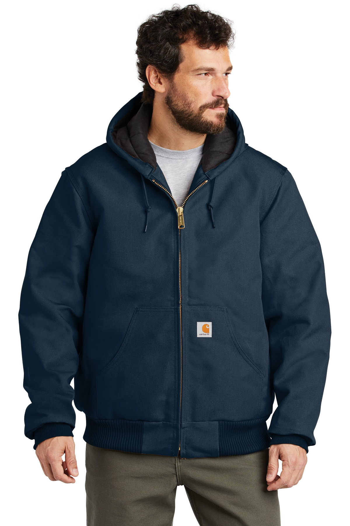 Carhartt  ®  Quilted-Flannel-Lined Duck Active Jac. CTSJ140 - Dark Navy