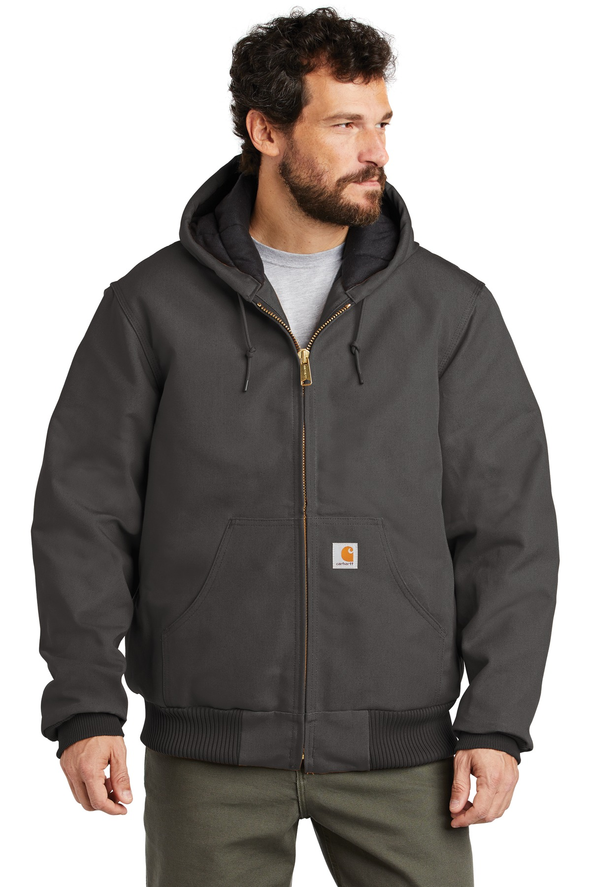 Carhartt  ®  Quilted-Flannel-Lined Duck Active Jac. CTSJ140 - Gravel