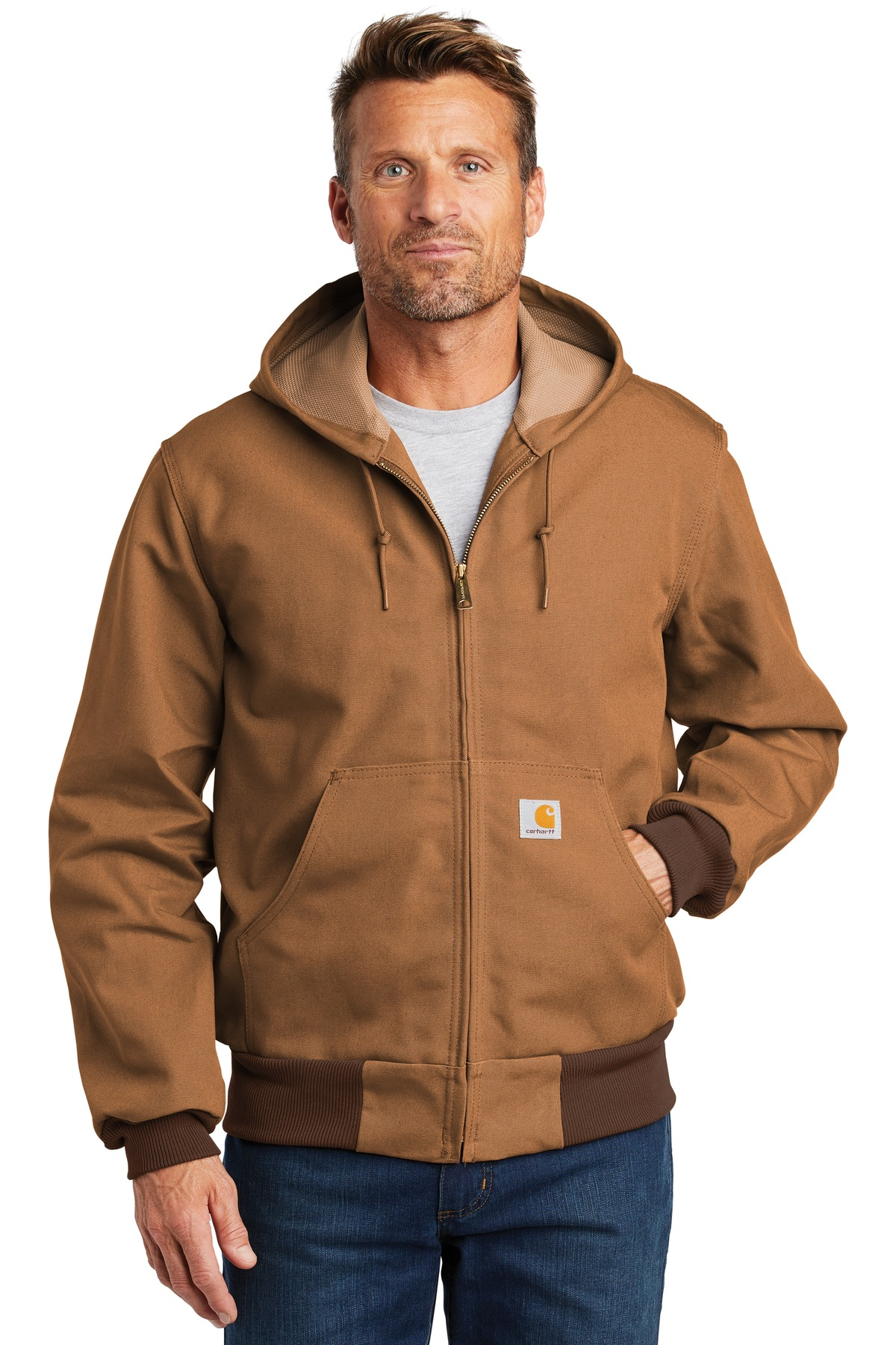 Carhartt  ®  Tall Thermal-Lined Duck Active Jac. CTTJ131 - Carhartt Brown