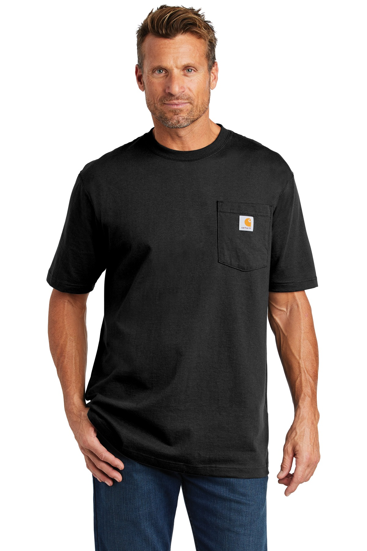 Carhartt  ®  Tall Workwear Pocket Short Sleeve T-Shirt. CTTK87 - Black