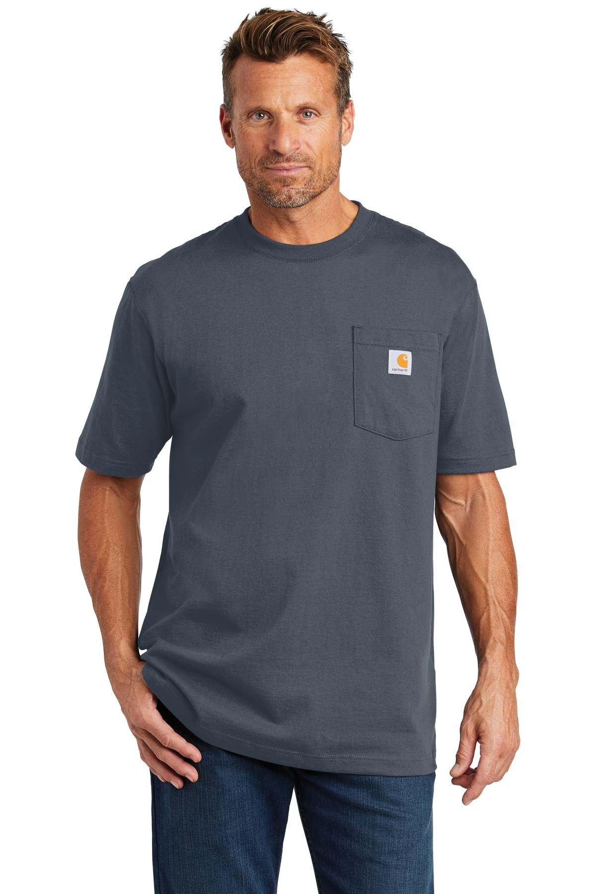 Carhartt  ®  Tall Workwear Pocket Short Sleeve T-Shirt. CTTK87 - Bluestone