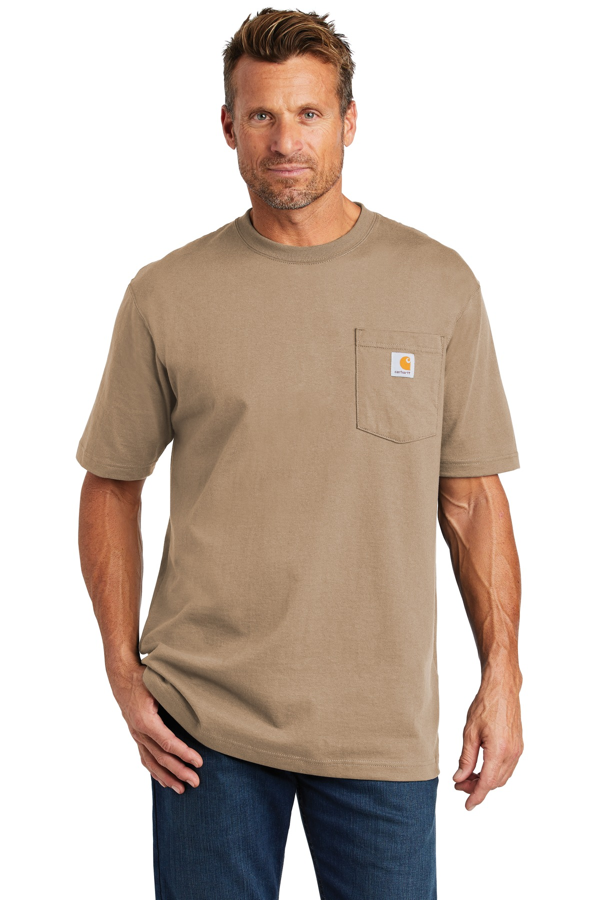 Carhartt  ®  Tall Workwear Pocket Short Sleeve T-Shirt. CTTK87 - Desert