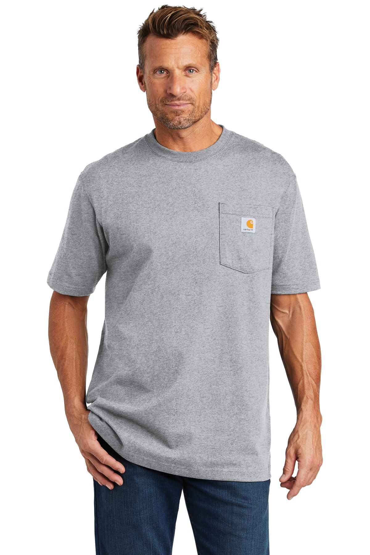 Carhartt  ®  Tall Workwear Pocket Short Sleeve T-Shirt. CTTK87 - Heather Grey