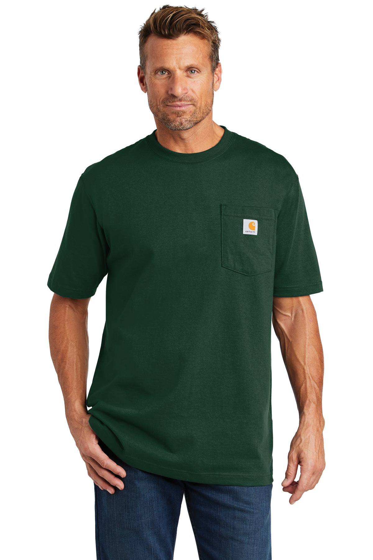 Carhartt  ®  Tall Workwear Pocket Short Sleeve T-Shirt. CTTK87 - Hunter Green