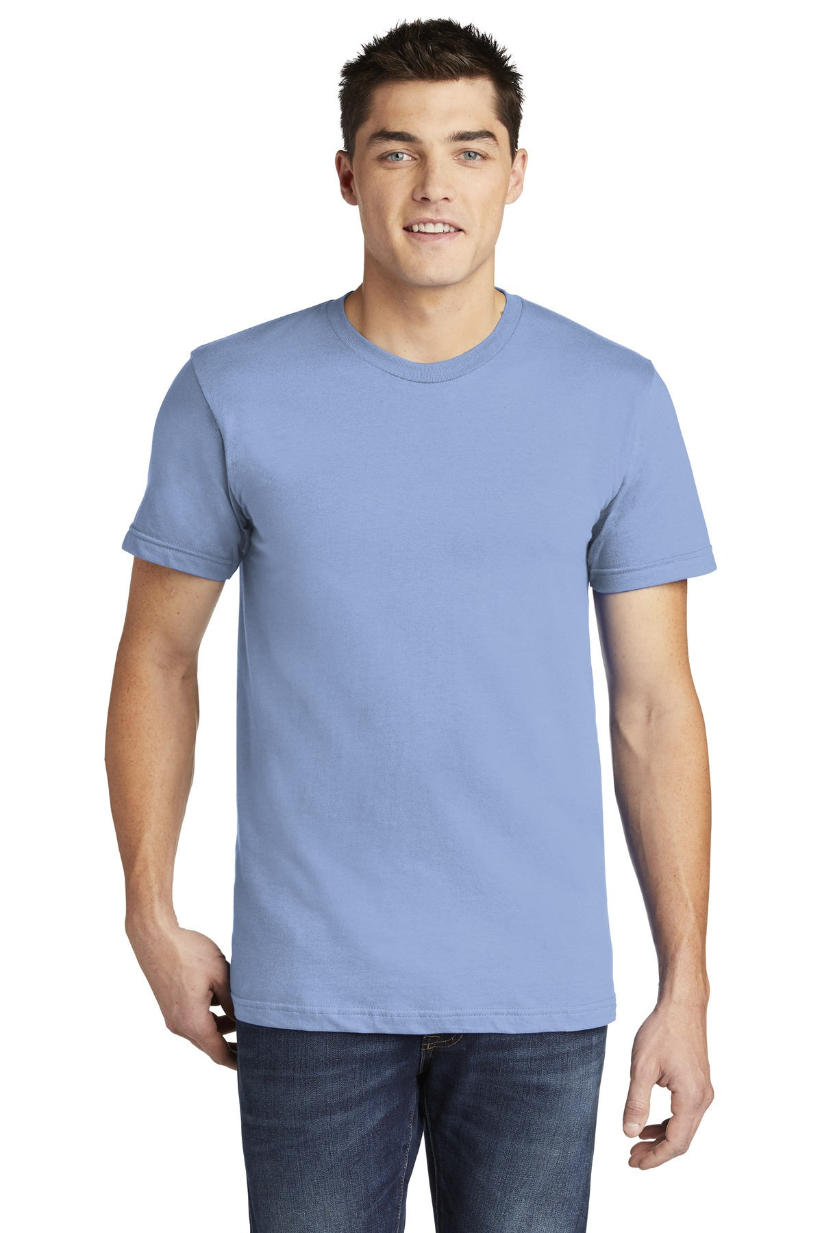 American Apparel  ®  USA Collection Fine Jersey T-Shirt. 2001A - Baby Blue