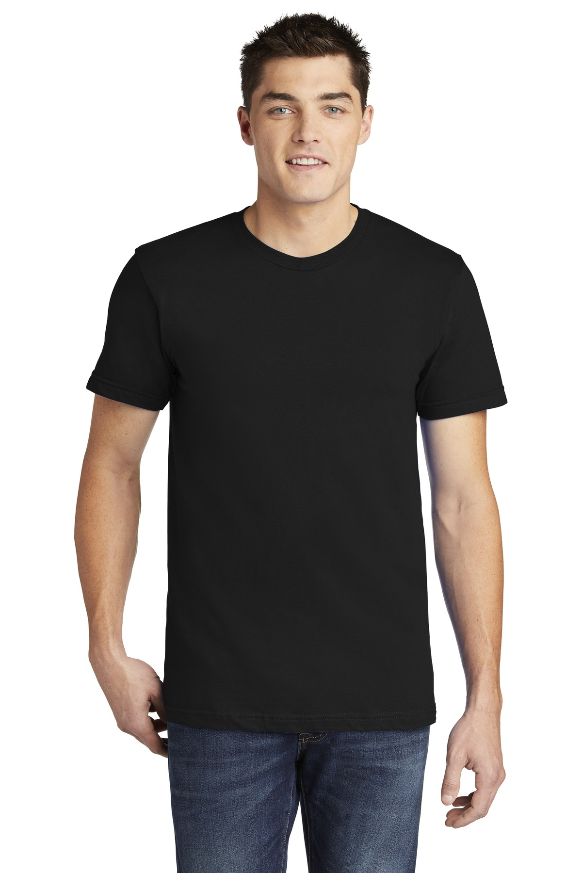American Apparel  ®  USA Collection Fine Jersey T-Shirt. 2001A - Black