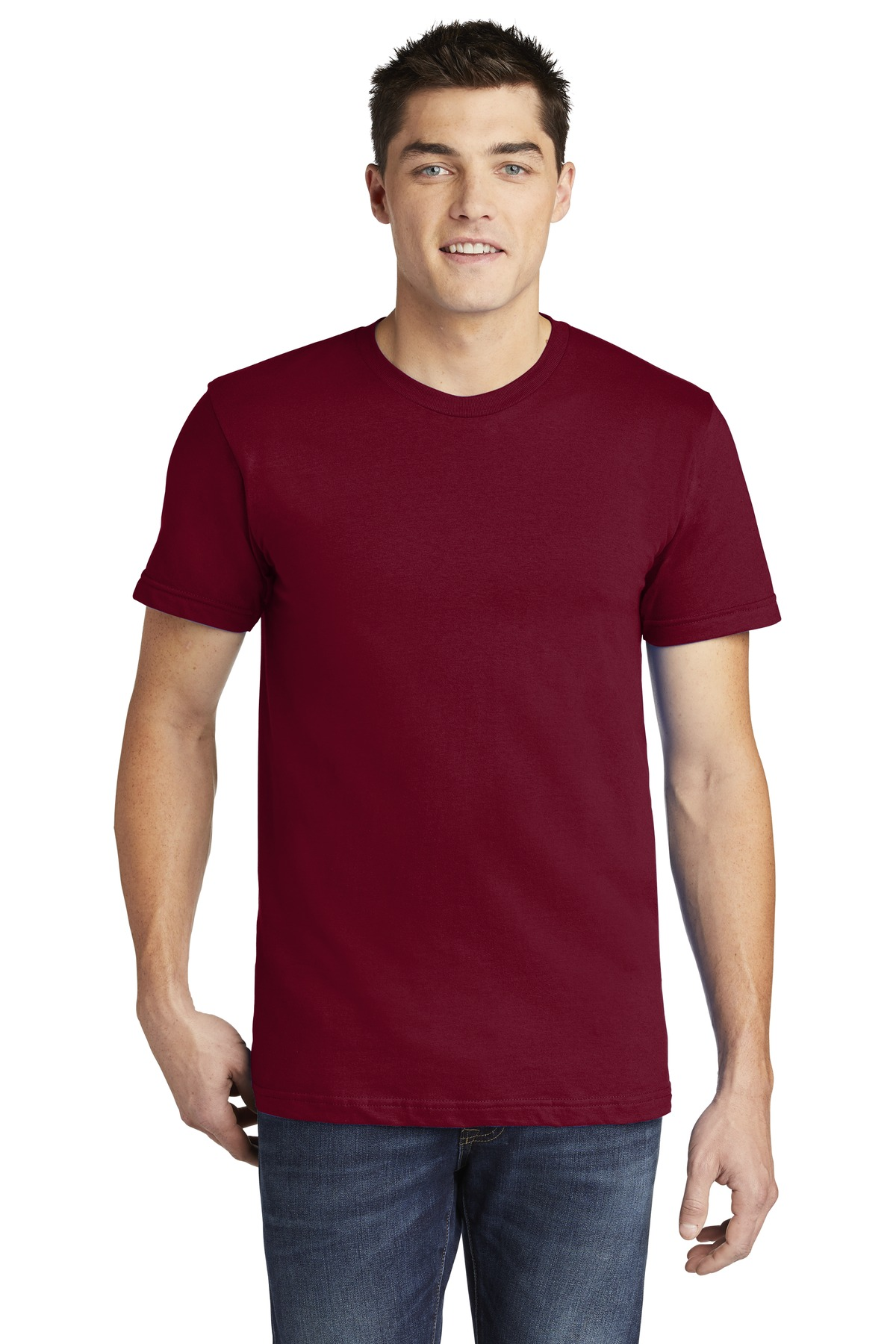 American Apparel  ®  USA Collection Fine Jersey T-Shirt. 2001A - Cranberry