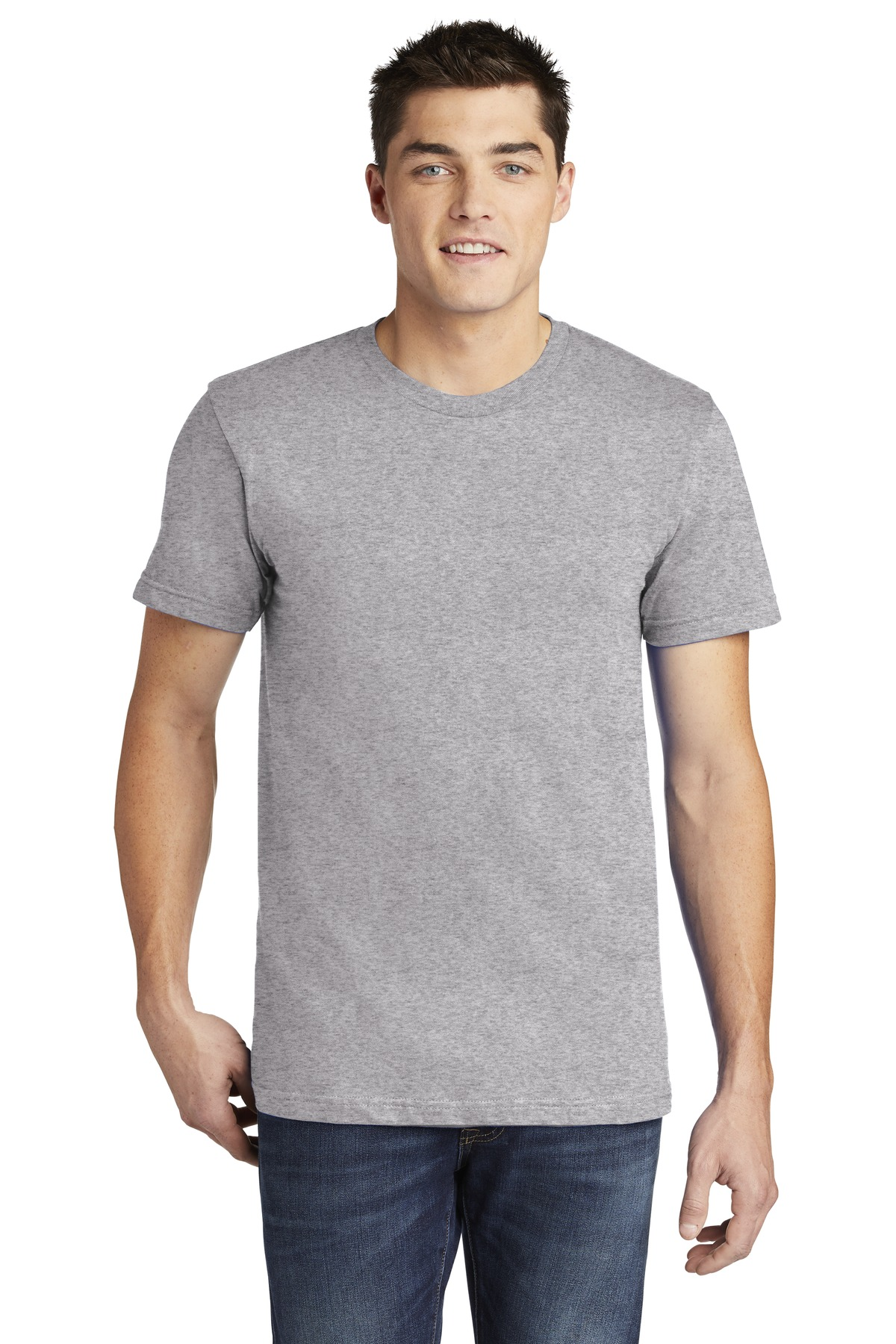 American Apparel  ®  USA Collection Fine Jersey T-Shirt. 2001A - Heather Grey