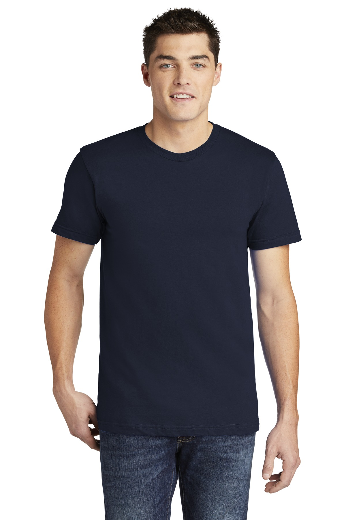 American Apparel  ®  USA Collection Fine Jersey T-Shirt. 2001A - Navy