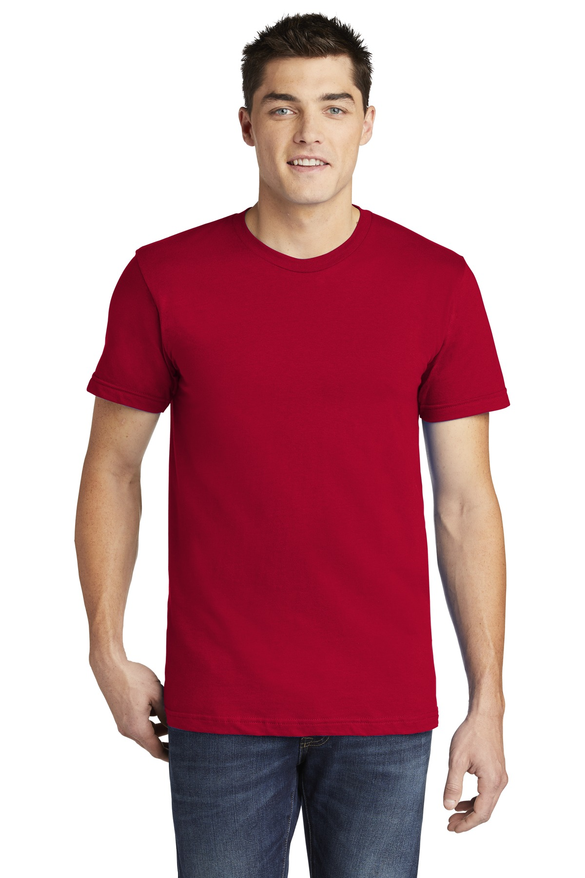 American Apparel  ®  USA Collection Fine Jersey T-Shirt. 2001A - Red