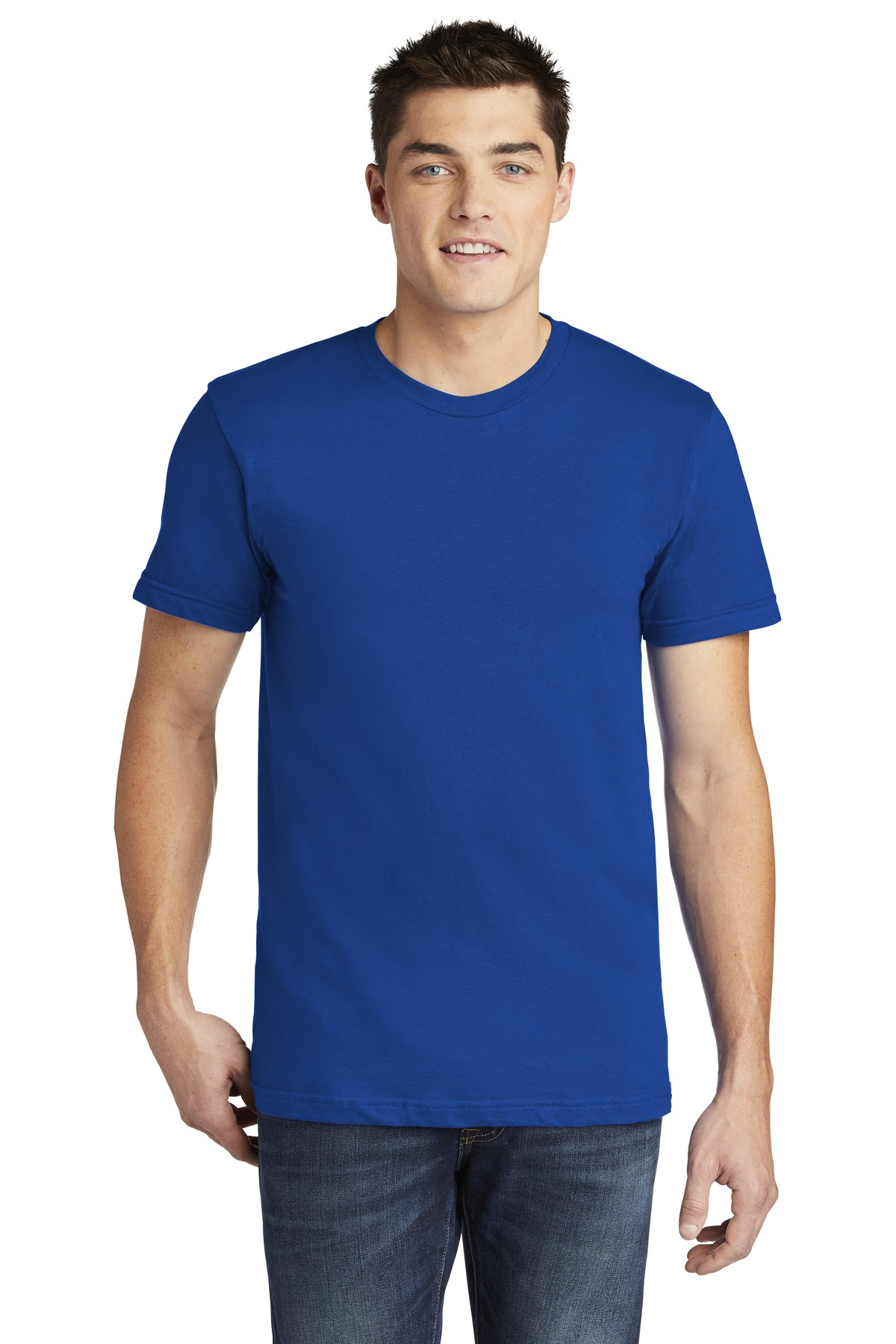 American Apparel  ®  USA Collection Fine Jersey T-Shirt. 2001A - Royal Blue