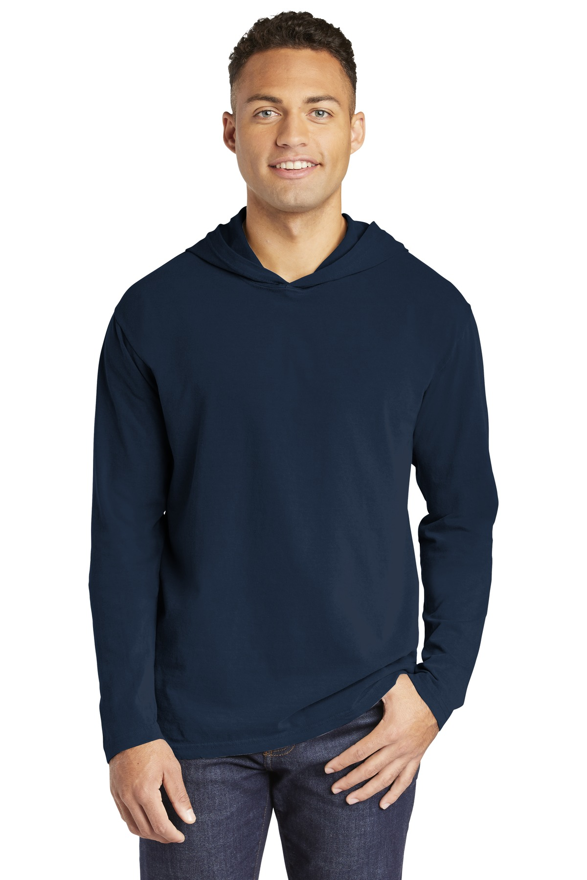 COMFORT COLORS Heavyweight Ring Spun Long Sleeve Hooded Tee. 4900